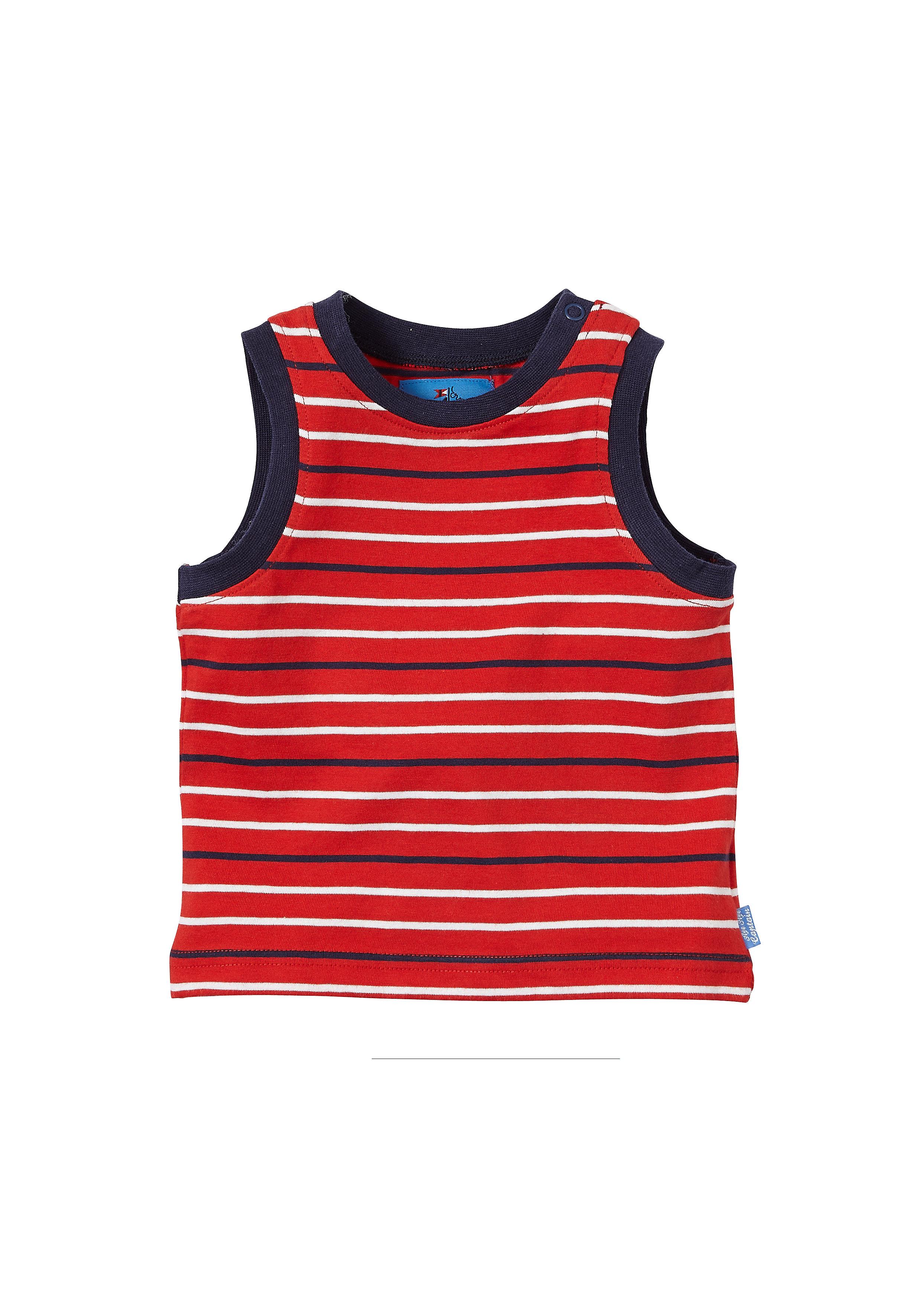Mothercare | Boys Seaside Stripe Vest - Red