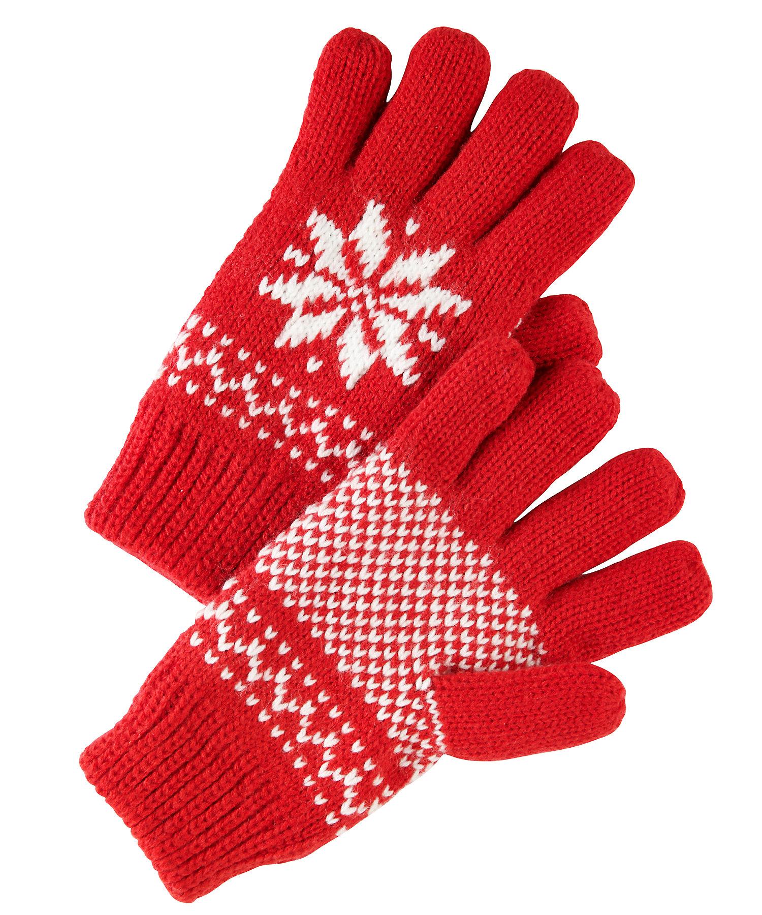 Mothercare | Girls Gloves Fairisle Design - Red
