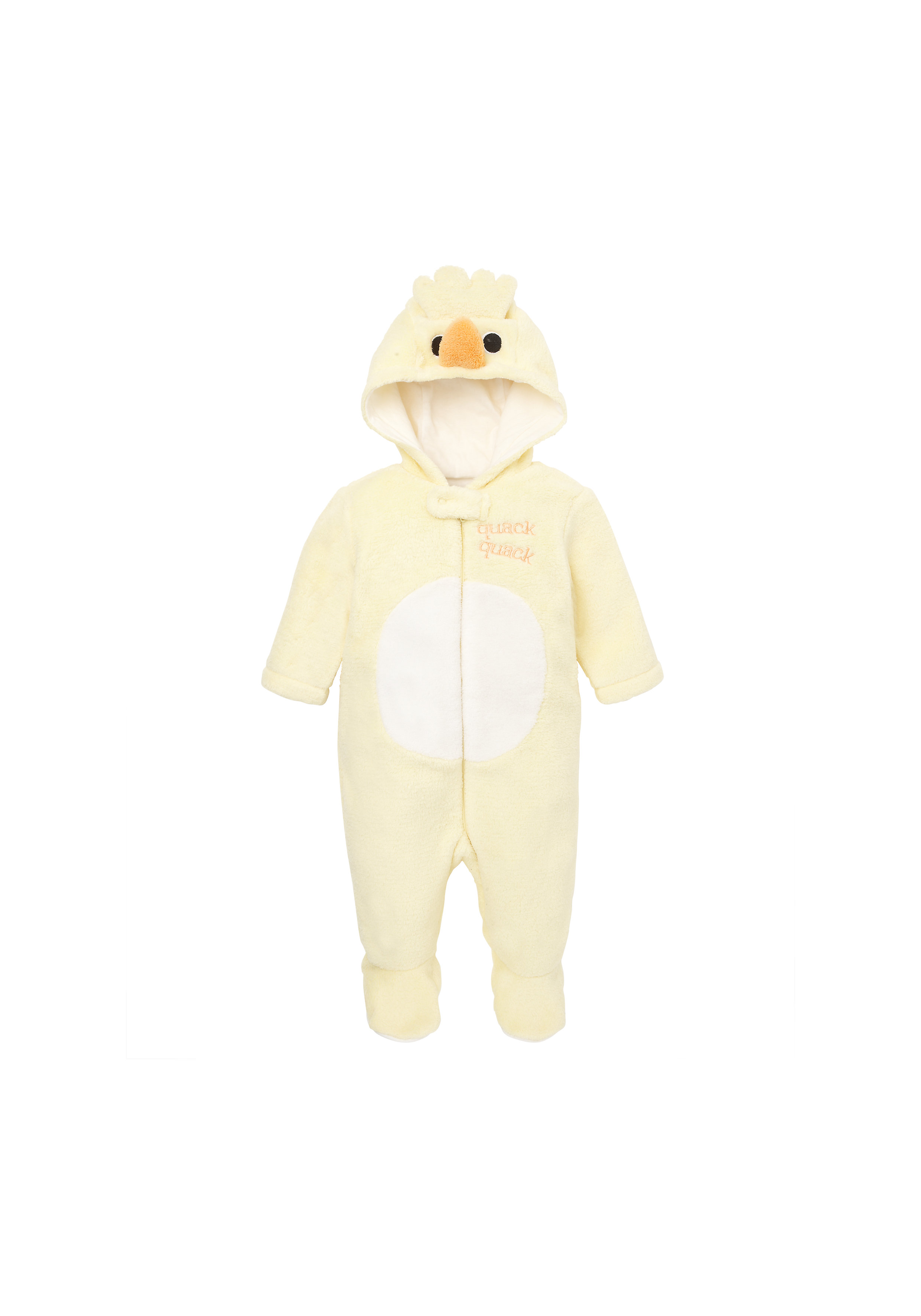 Mothercare   Unisex Full Sleeves Sleepsuit And Hat Dress Up Duck Design - Yellow