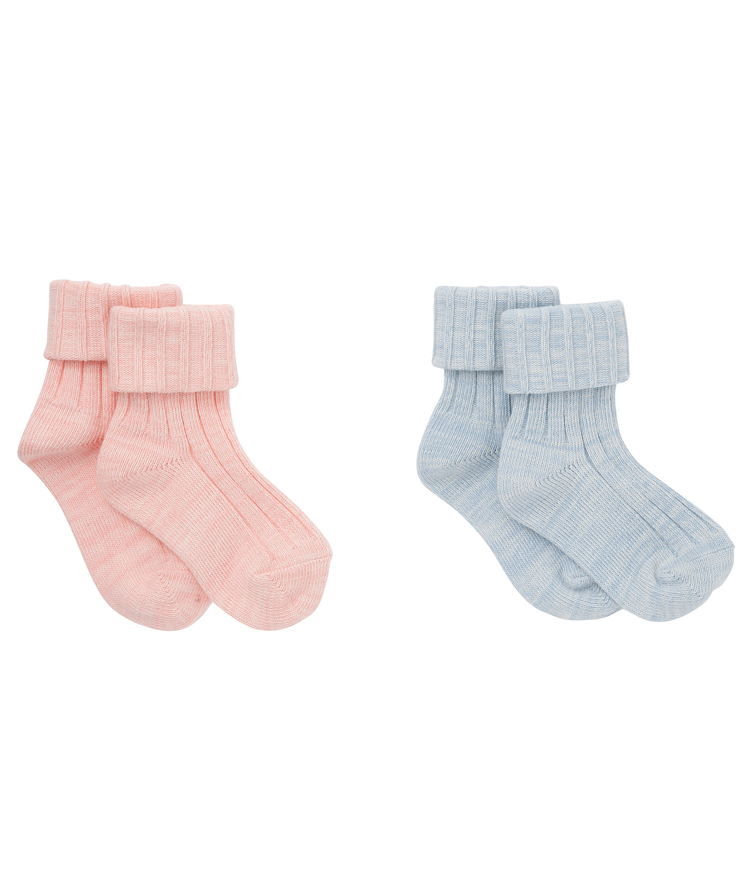 Mothercare | Girls Ribbed Socks - Pack Of 2 - Multicolor