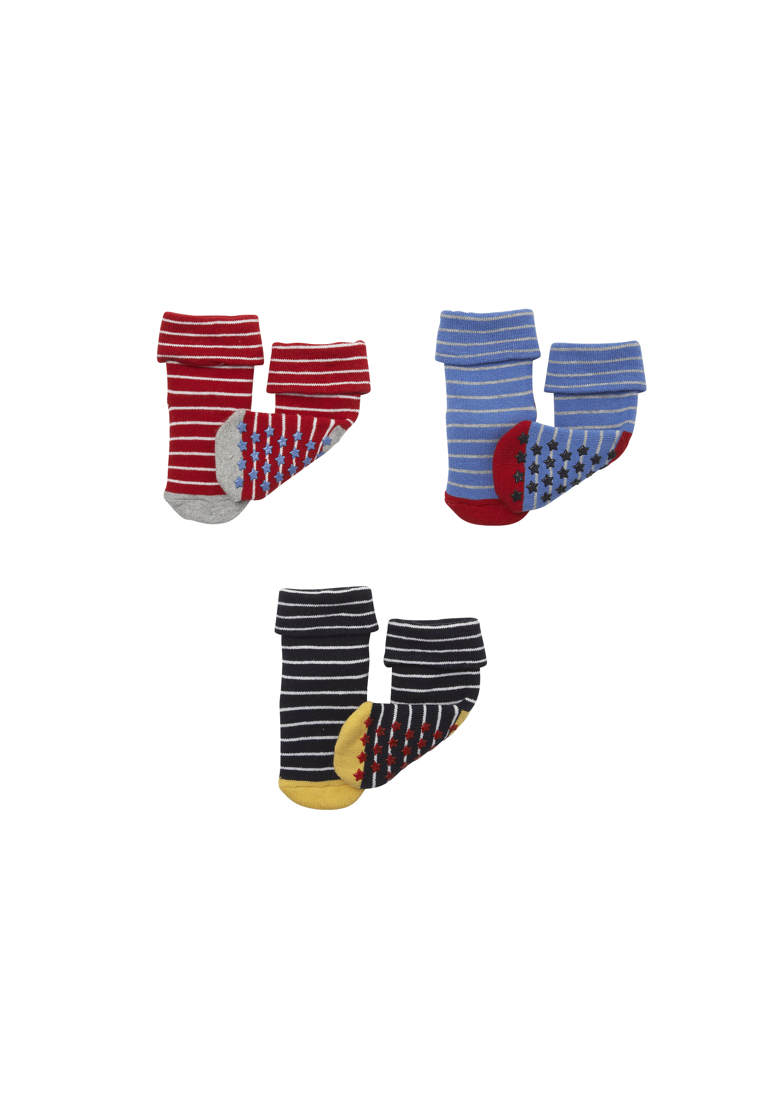 Mothercare   Boys Socks Striped - Pack Of 3 - Multicolor