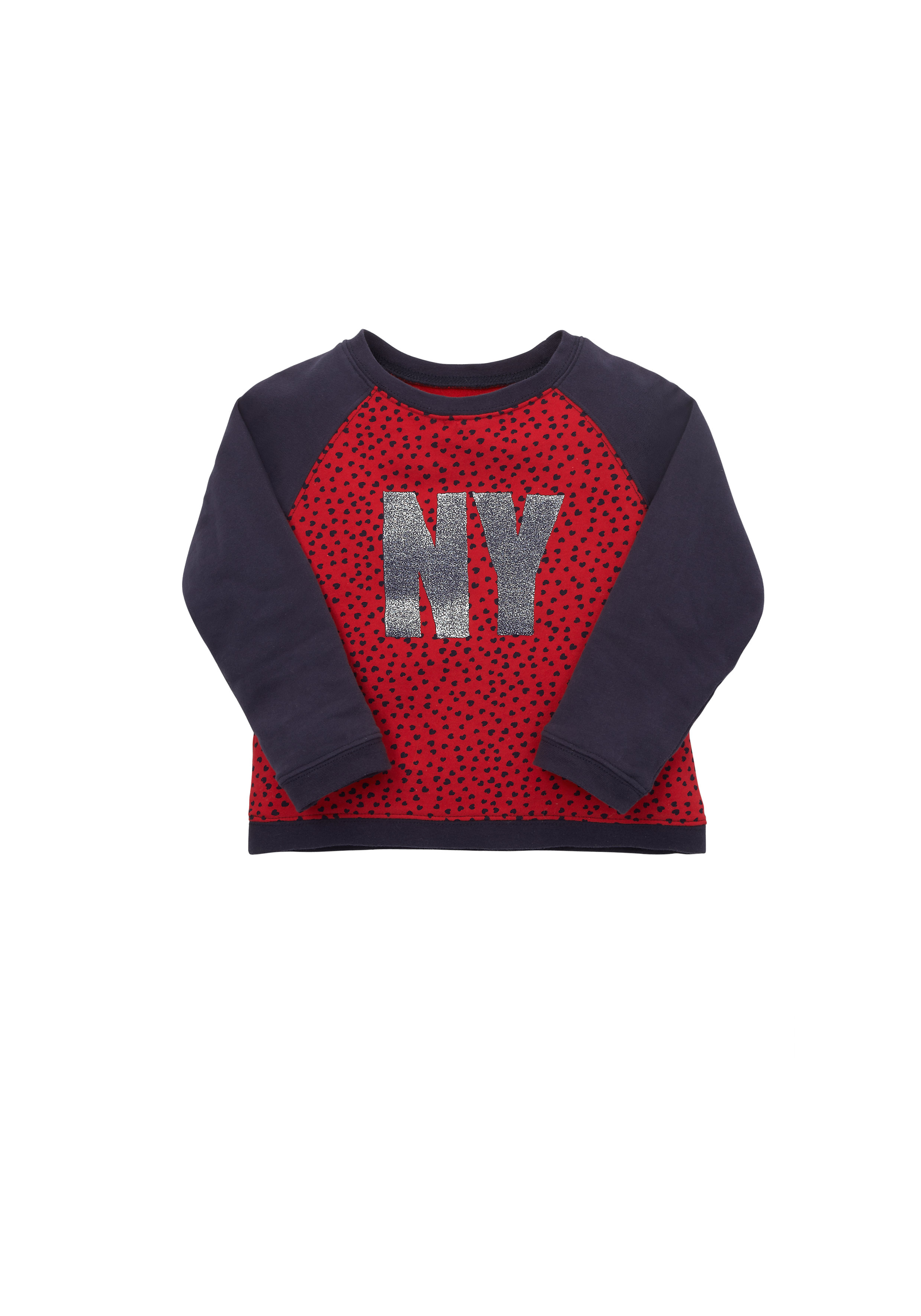 Mothercare | Girls  Heart Print Sweat Top - Red