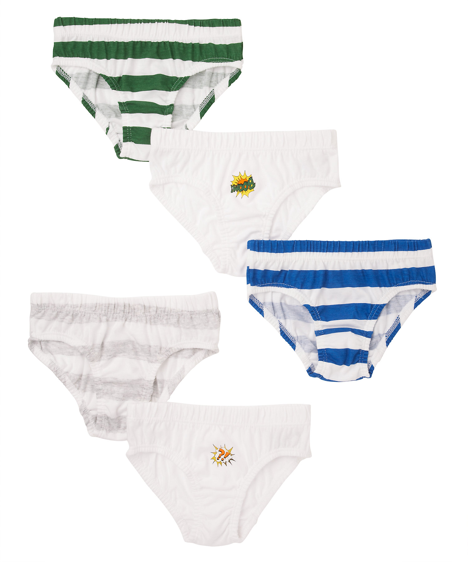 Mothercare   Boys Briefs Striped - Pack Of 5 - Multicolor