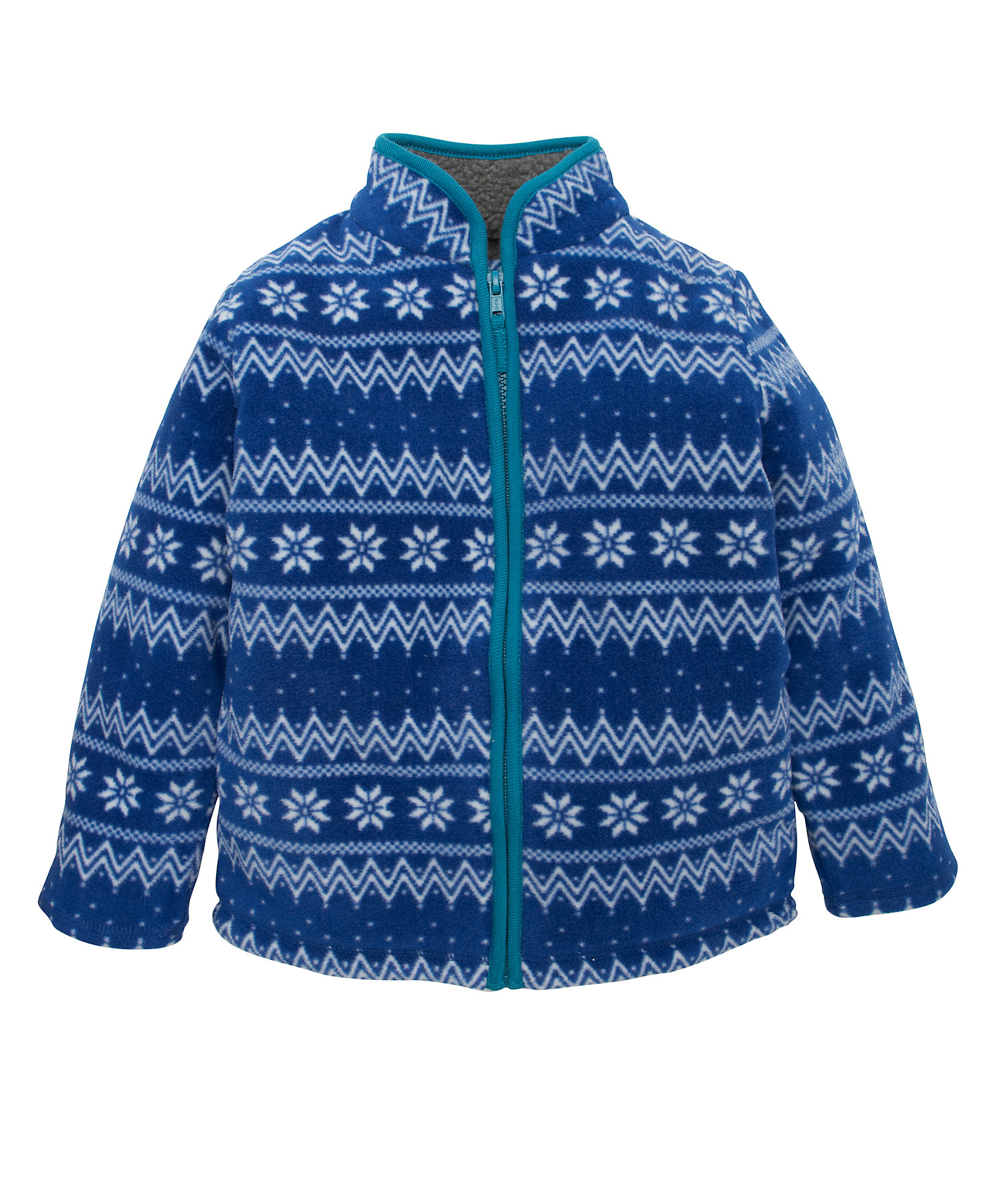 Mothercare | Boys Full Sleeves Fleece Jacket Fair isle Design - Blue