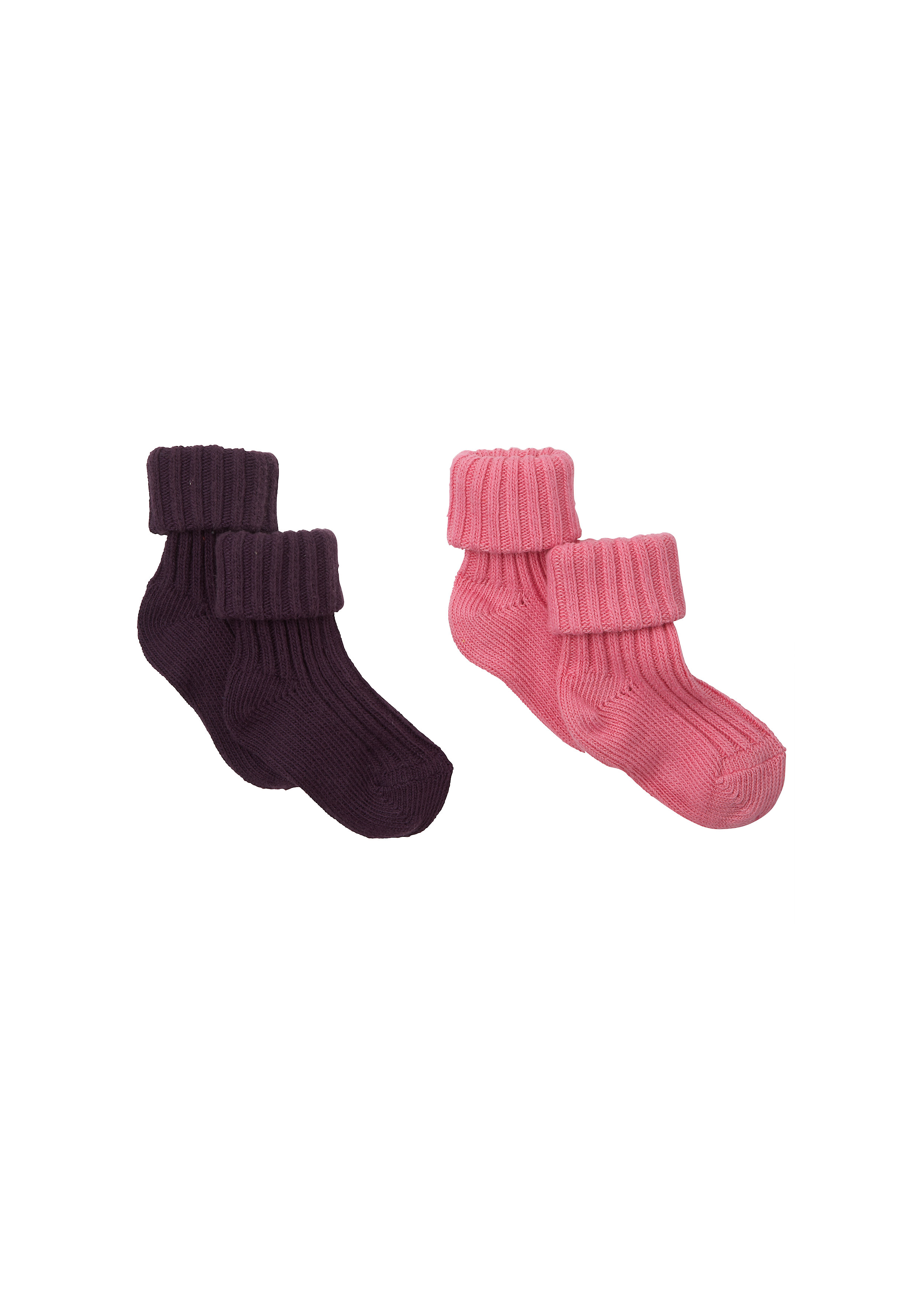Mothercare   Girls Socks Ribbed - Pack Of 2 - Multicolor