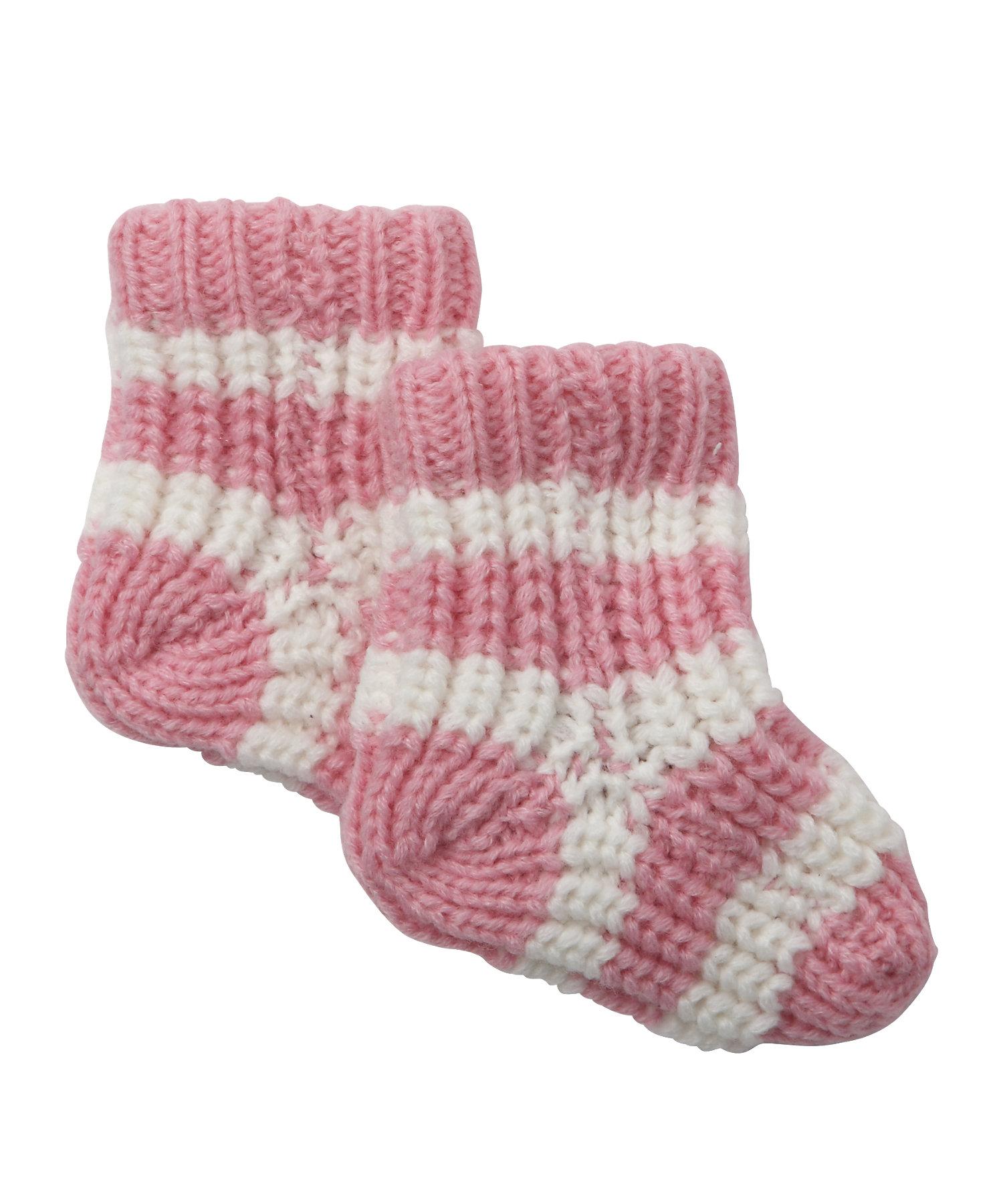 Mothercare   Girls Socks Chunky Knit - Pink