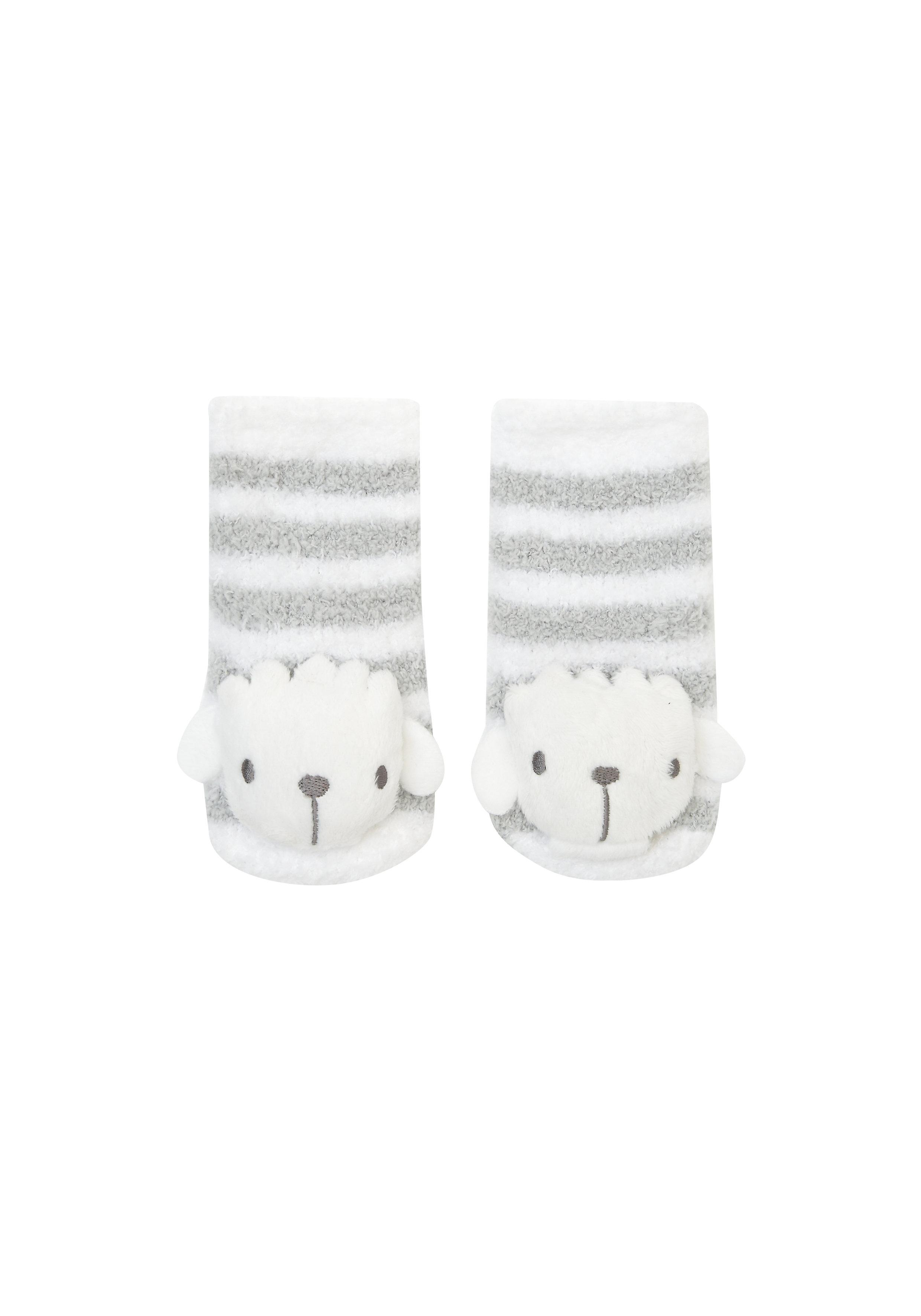 Mothercare   Unisex Socks 3D Sheep Details - White