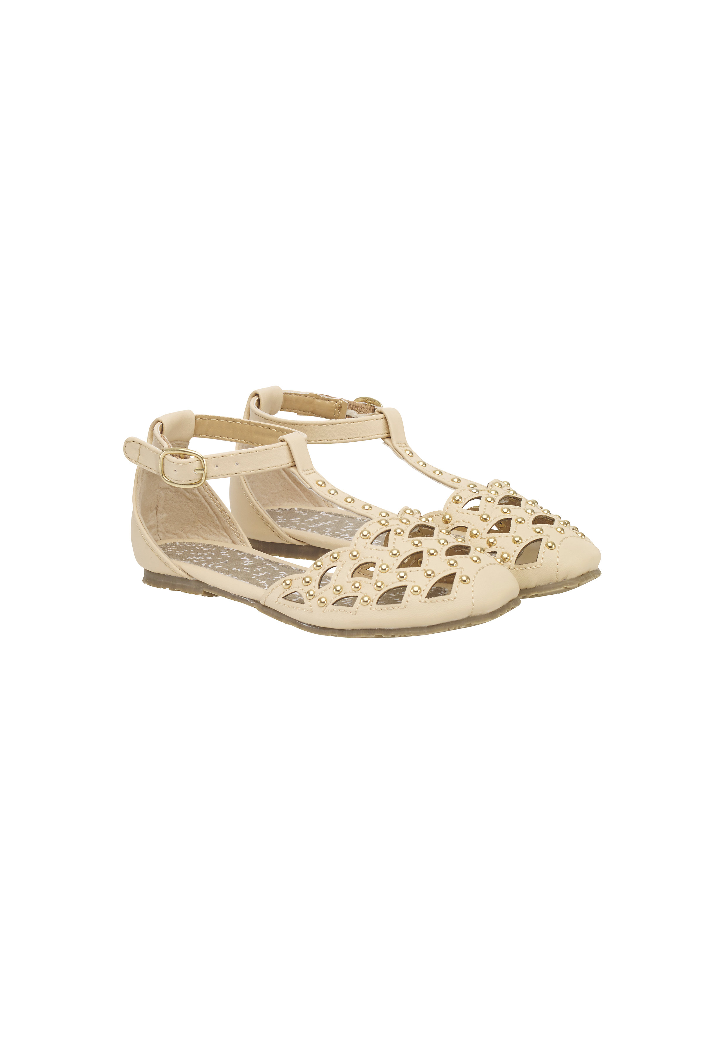 Mothercare | Girls Shoes Cut Out Design With Studs - Pink