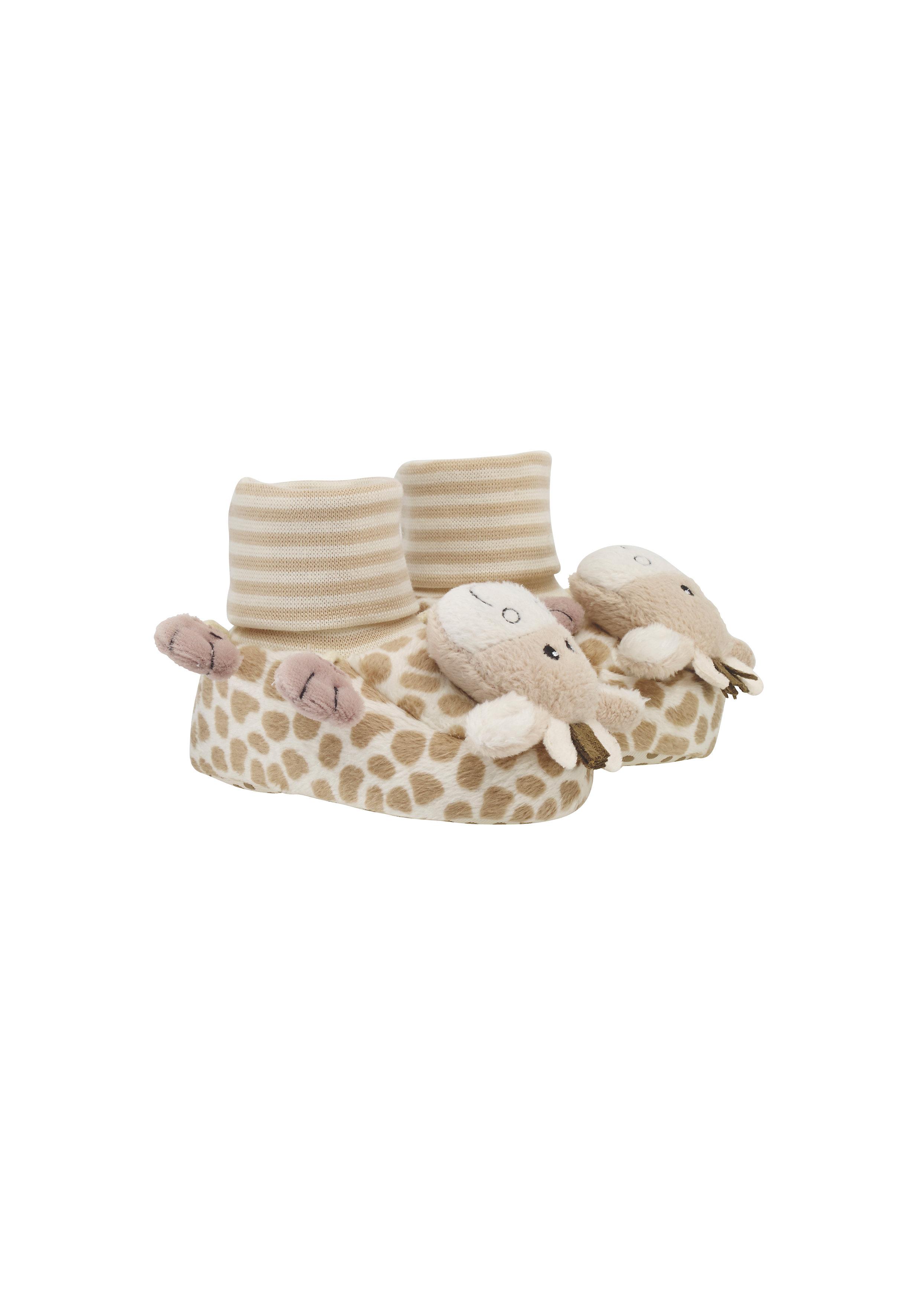 Mothercare | Unisex Booties 3D Giraffe Detail - Brown