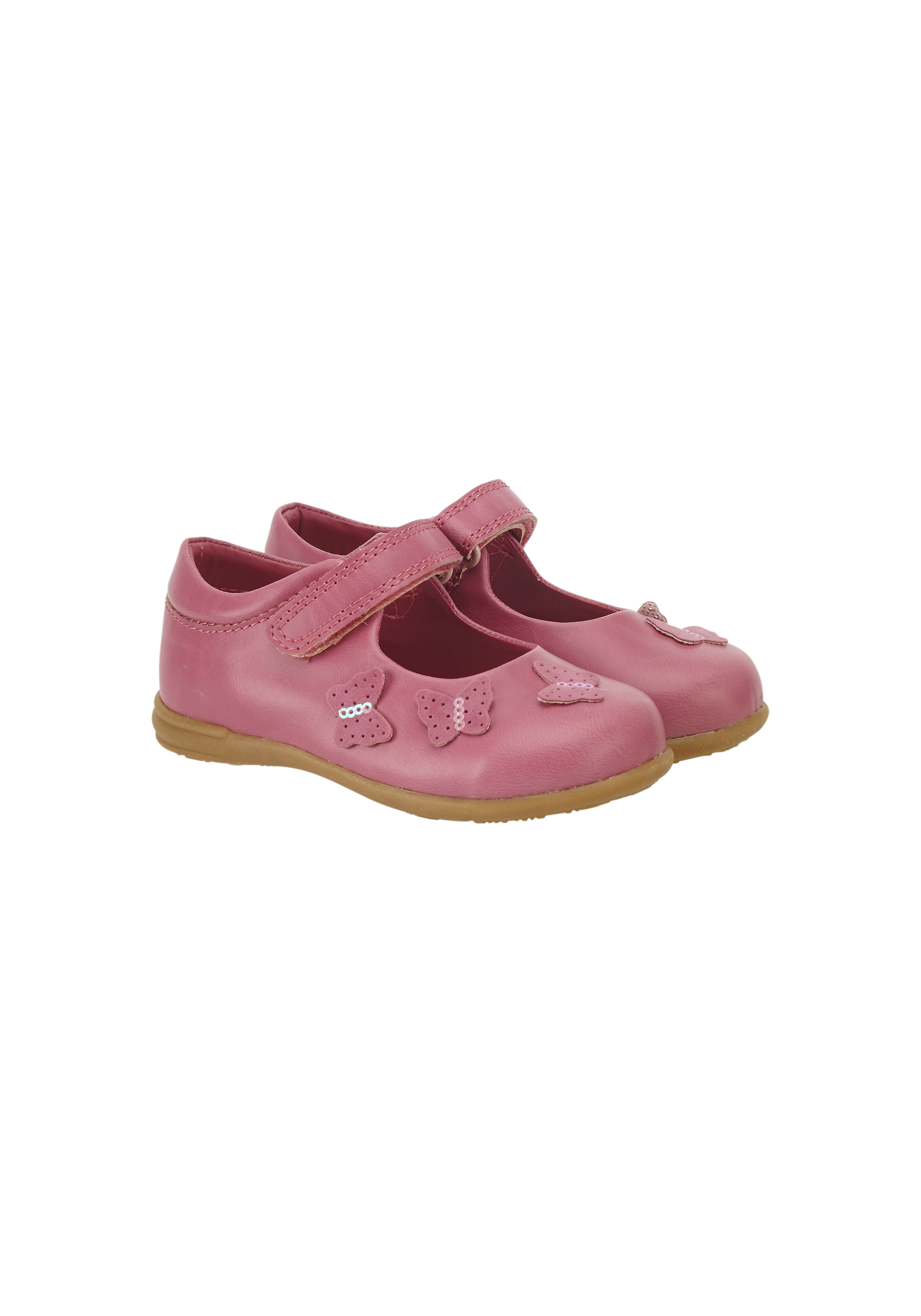 Mothercare | Girls First Walker Shoes Butterfly Design - Pink