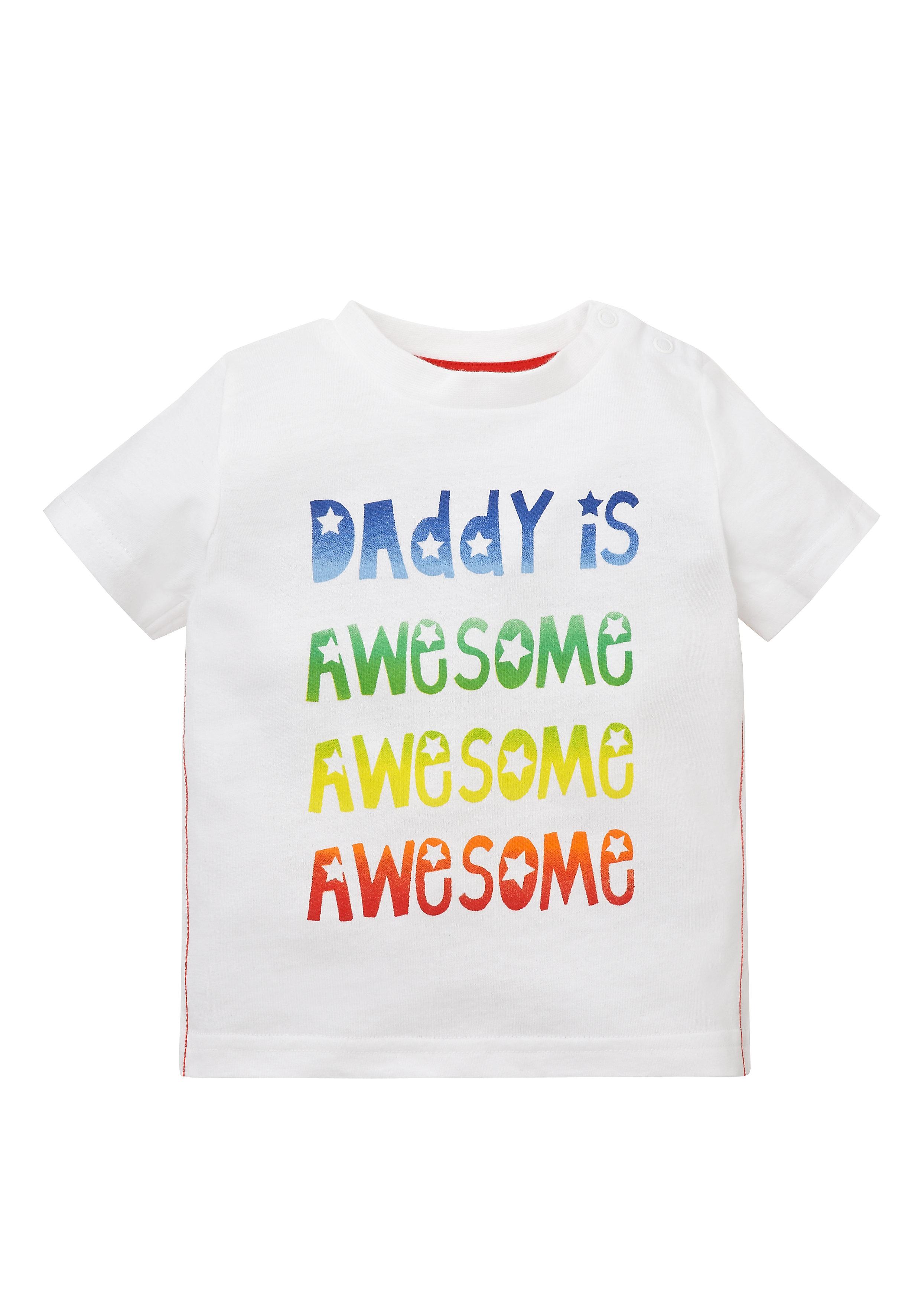 Mothercare | Boys Half Sleeves T-Shirt Text Print - White