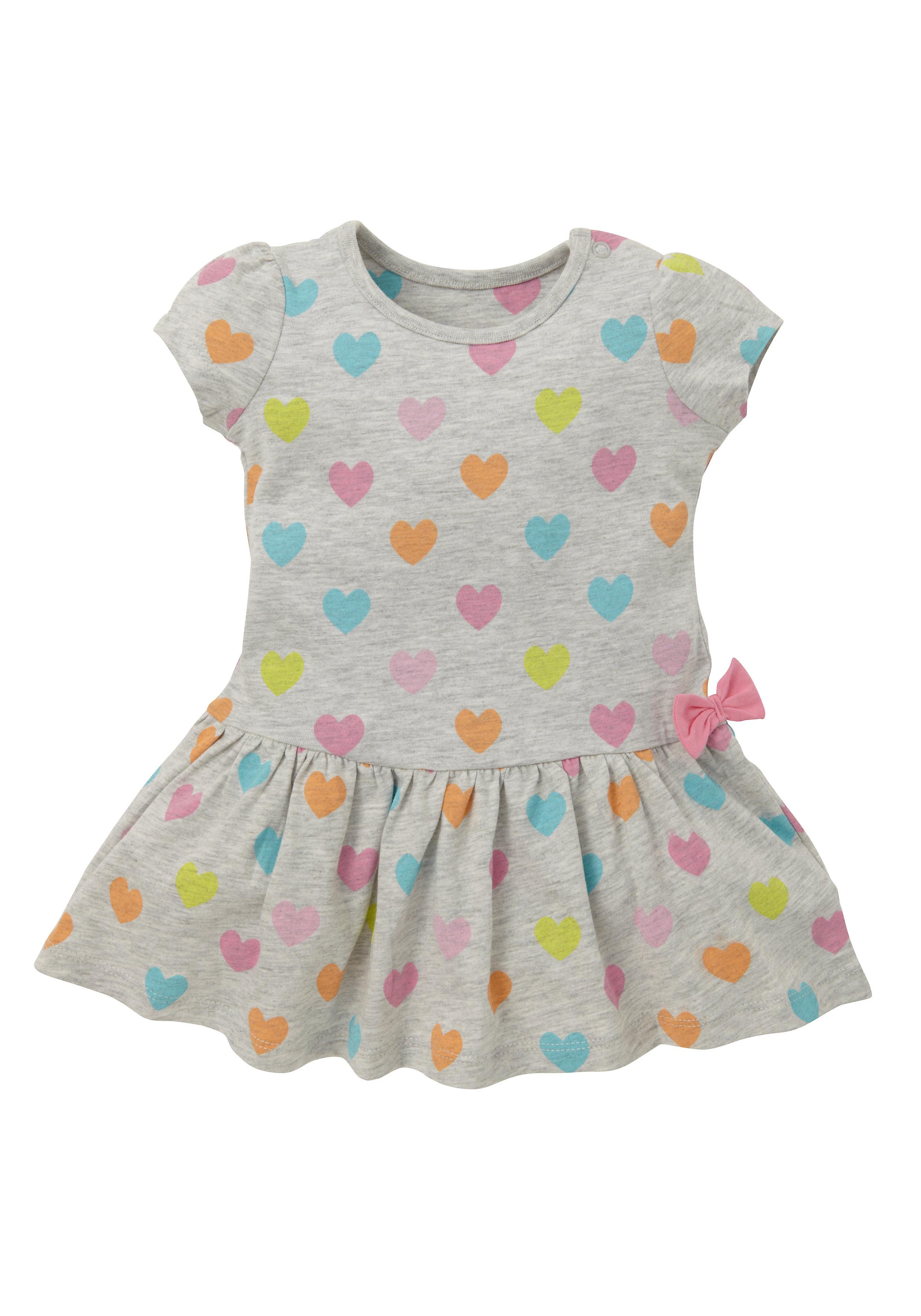 Mothercare | Girls Heart Print Jersey Dress