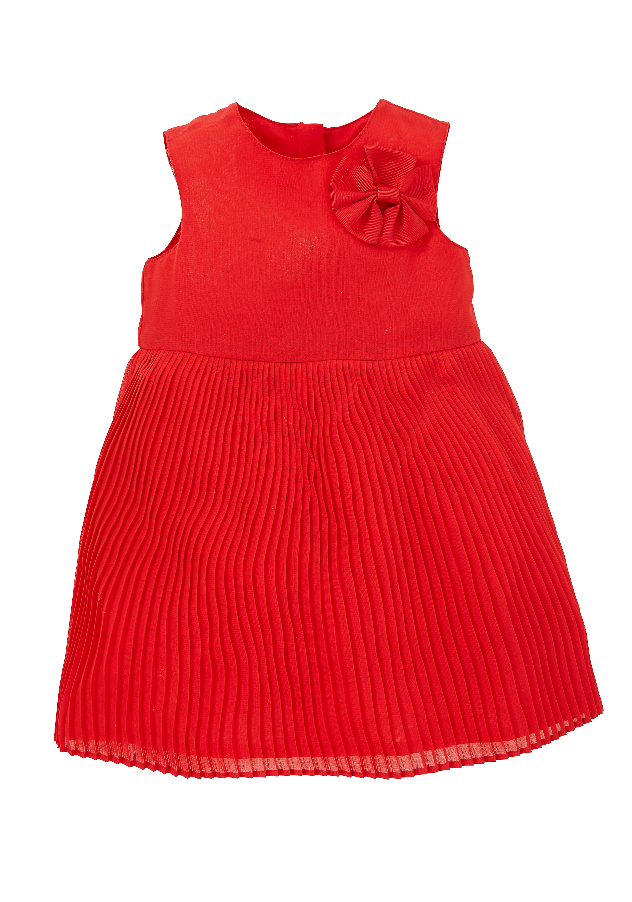 Mothercare | Girls Pleated Red Dress