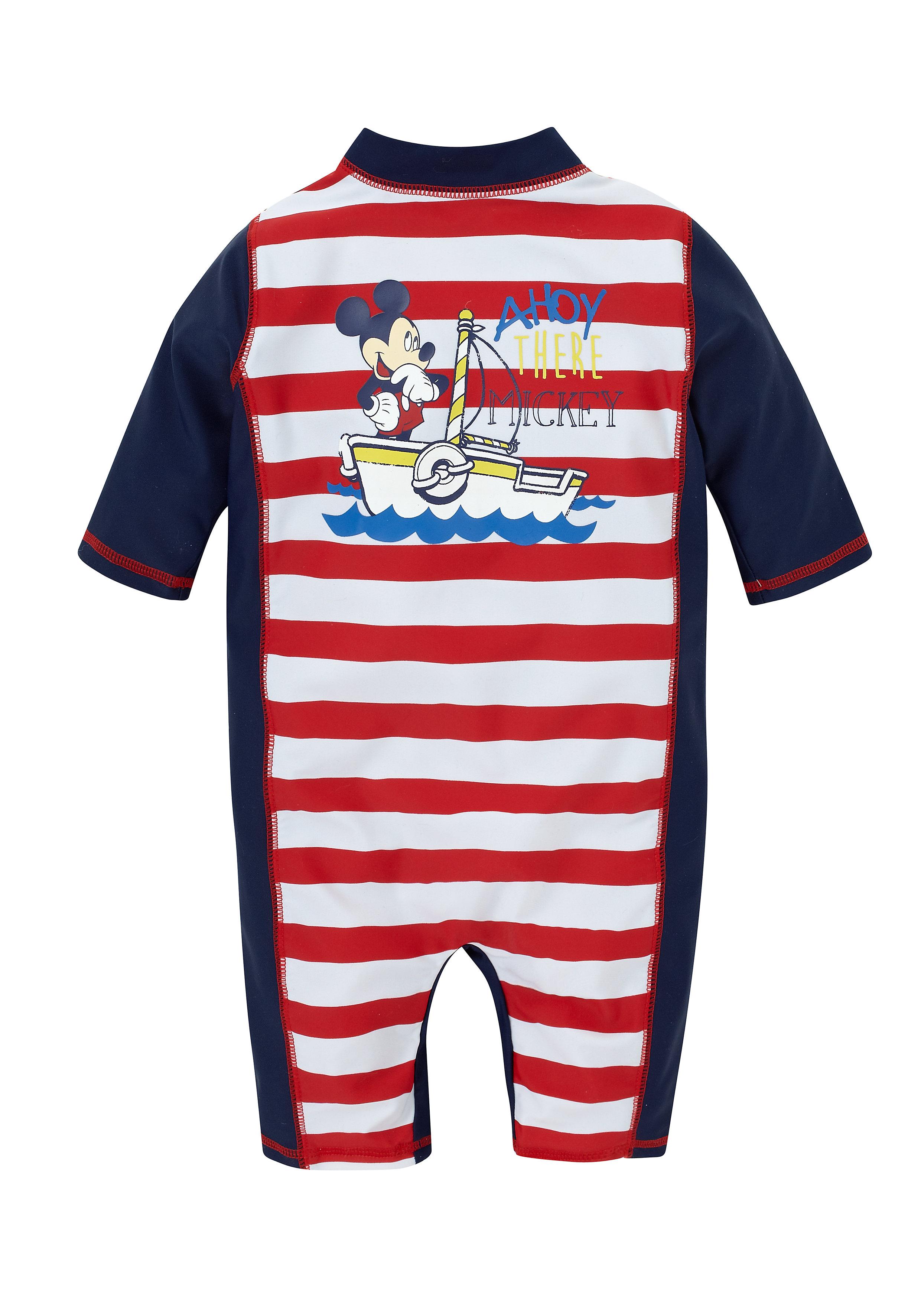Mothercare | Boys Full Sleeves Romper Striped - Navy