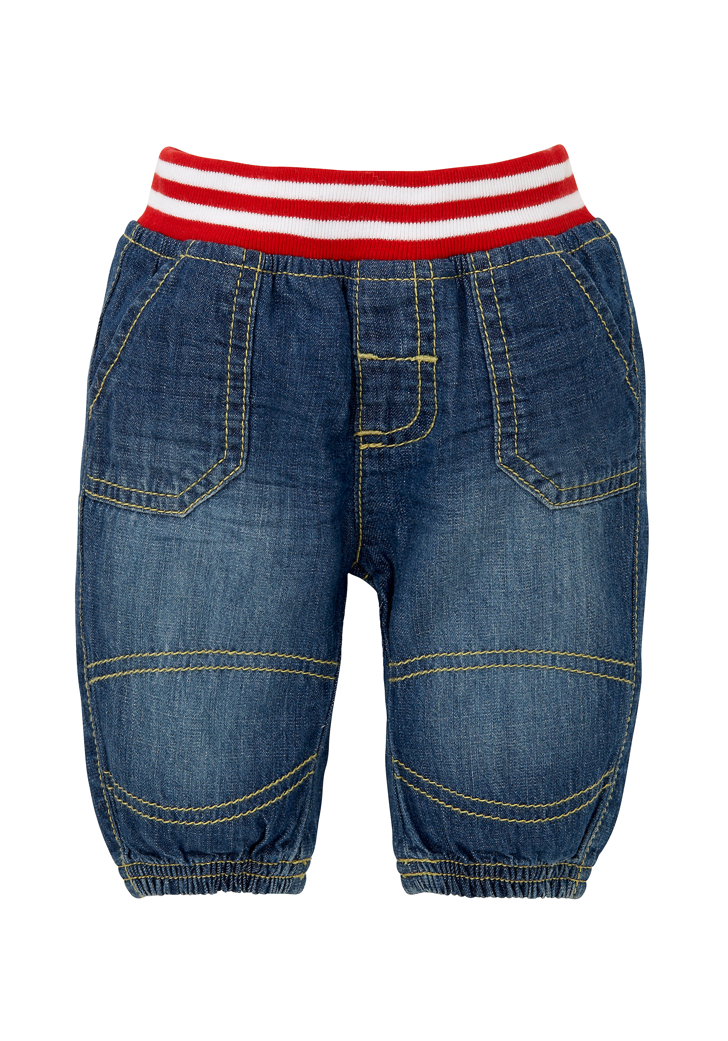 Mothercare | Blue Boys Ribbed Waist Jeans