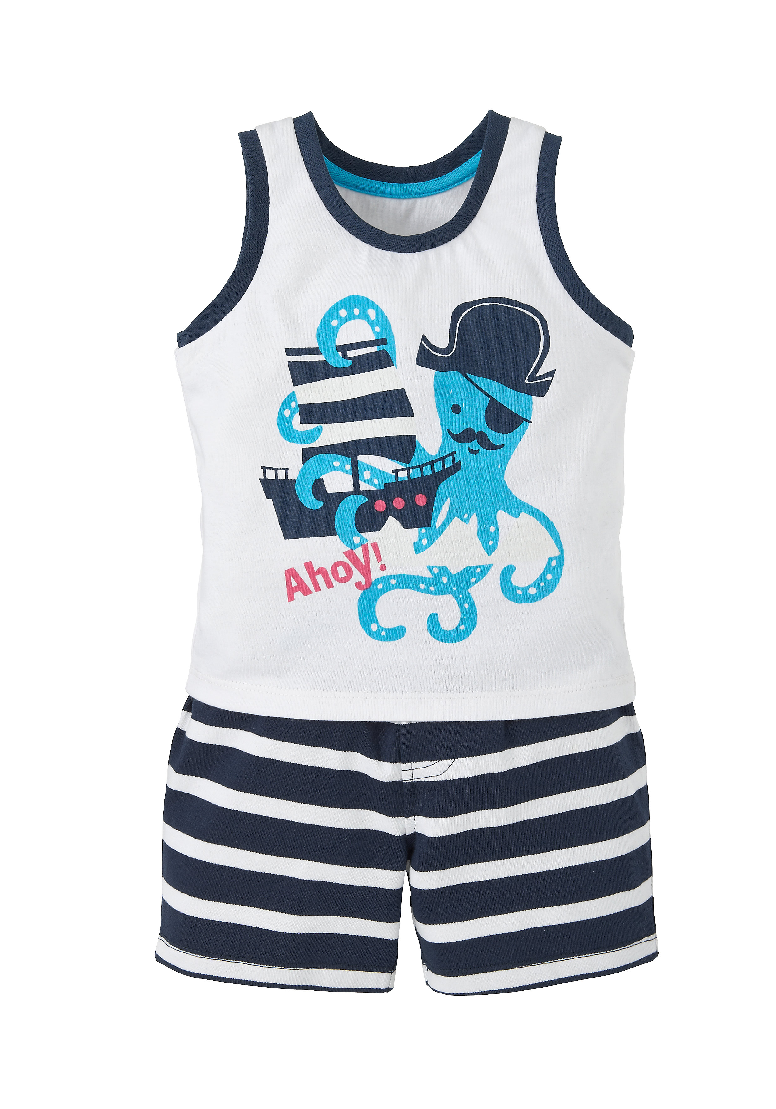 Mothercare | Multicolor Boys Pirate Octopus Vest And Shorts Set