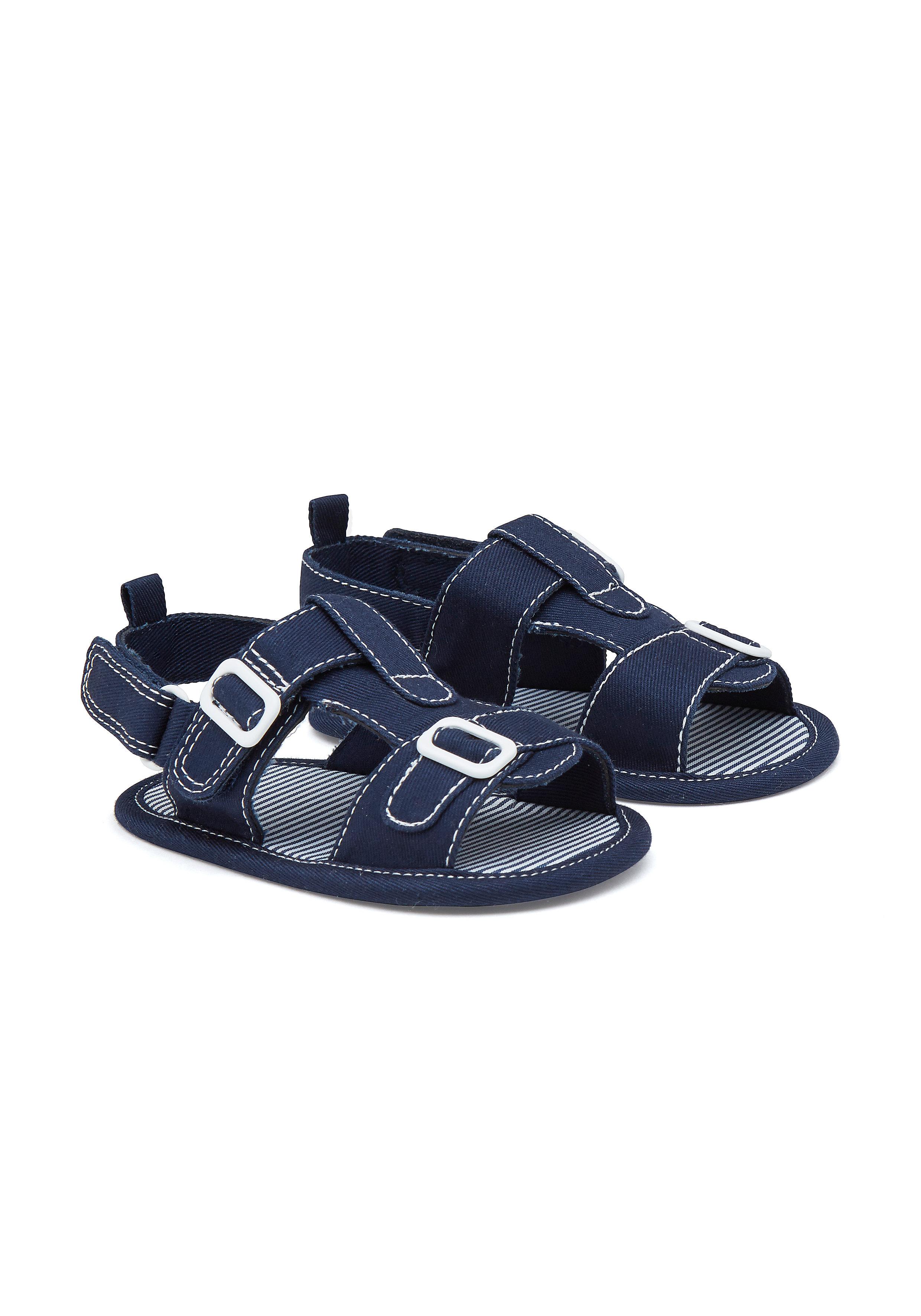 Mothercare | Boys Smart Buckle Sandals - Navy
