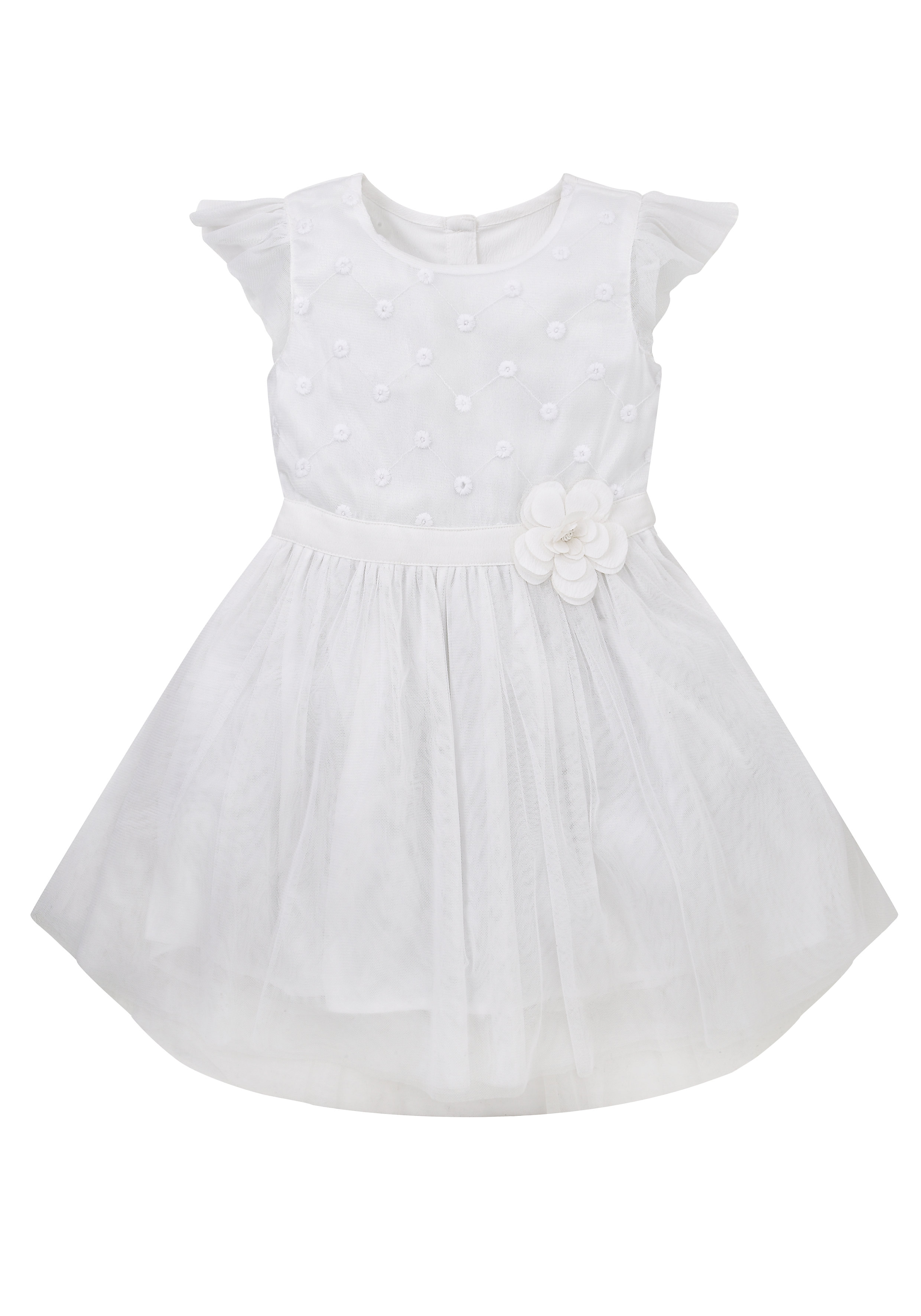 Mothercare | Girls Corsage Dress With Train - White