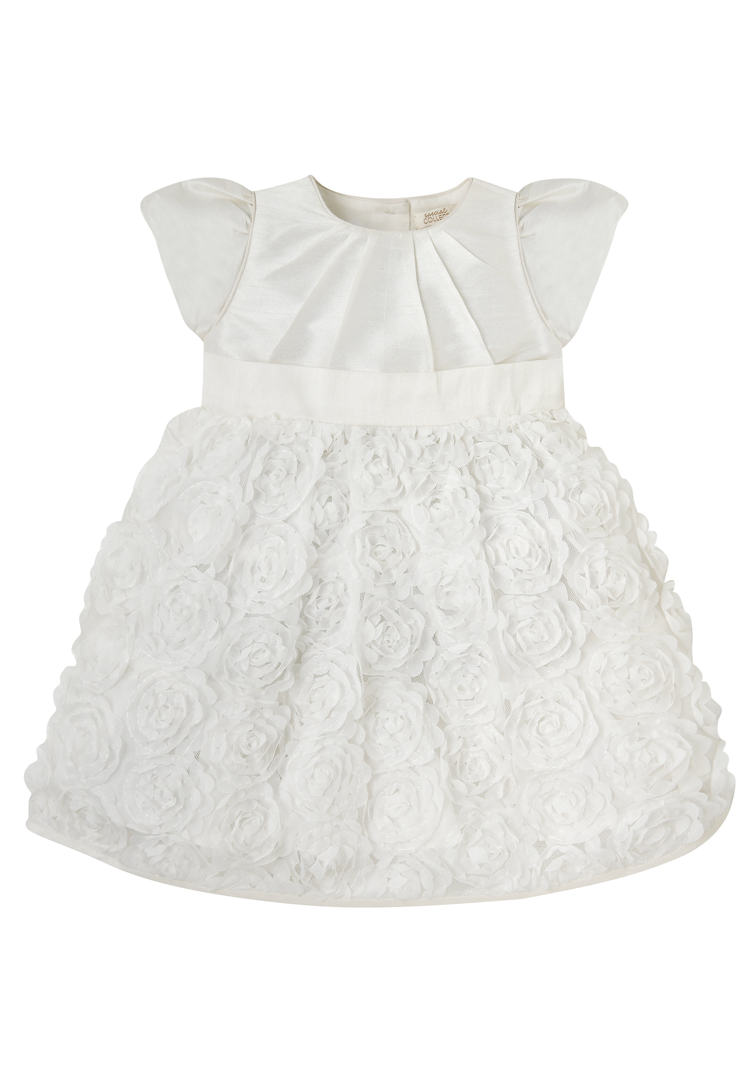 Mothercare | Girls White Flower Party Dress