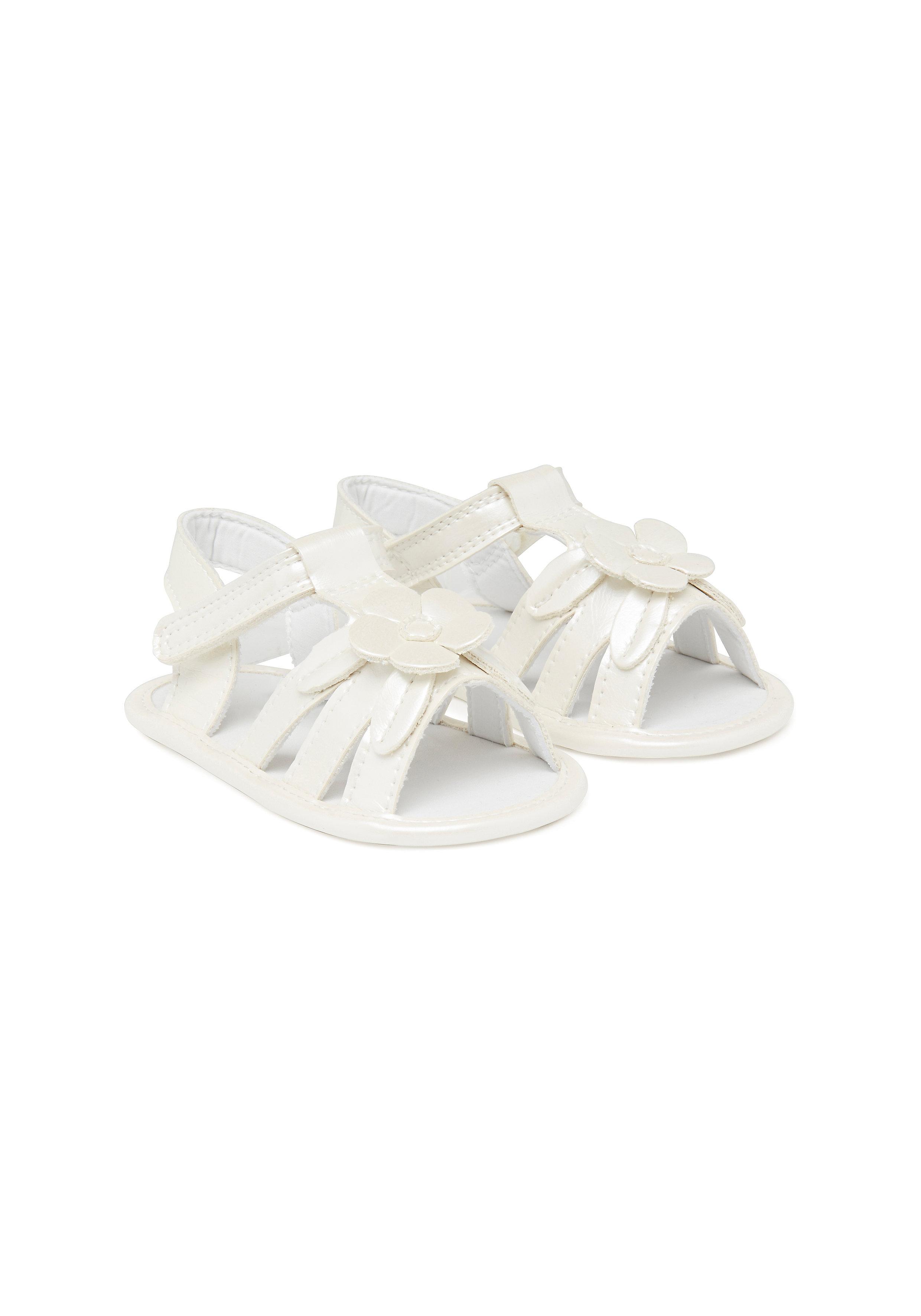 Mothercare | Girls Flower Sandals - Cream