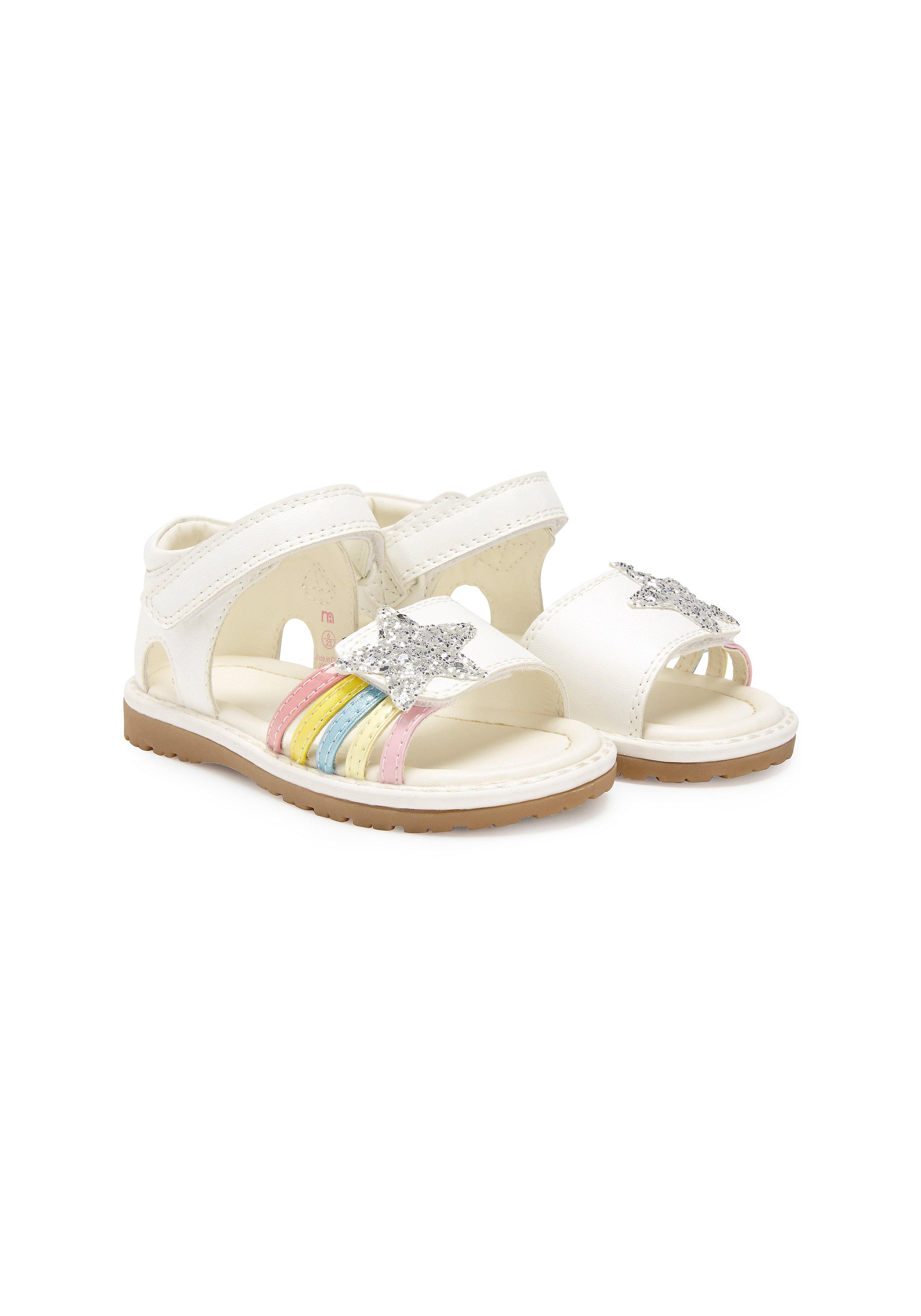 Mothercare | Girls First Walker Glitter Sandals