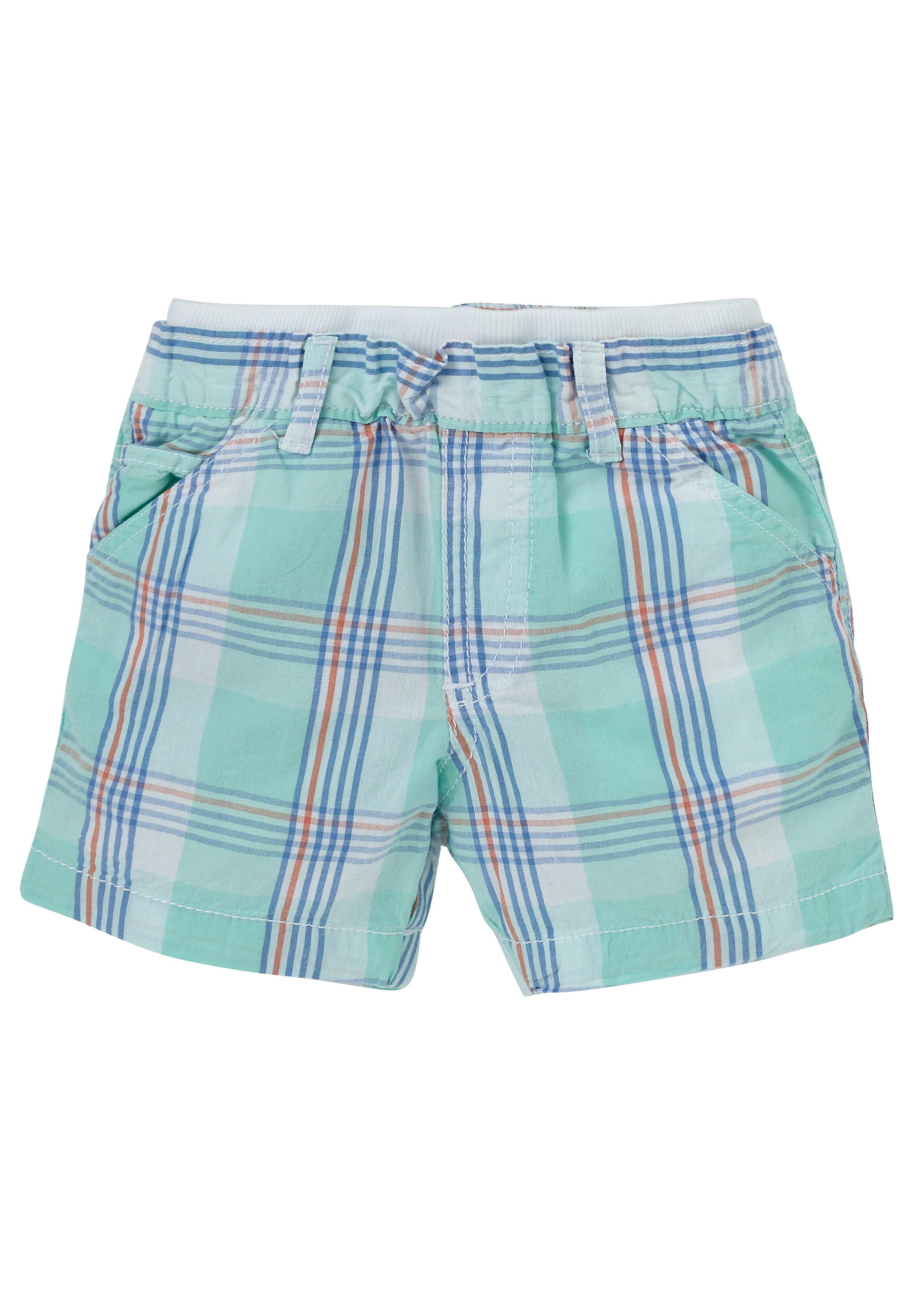 Mothercare | Blue Boys Check Chino Shorts