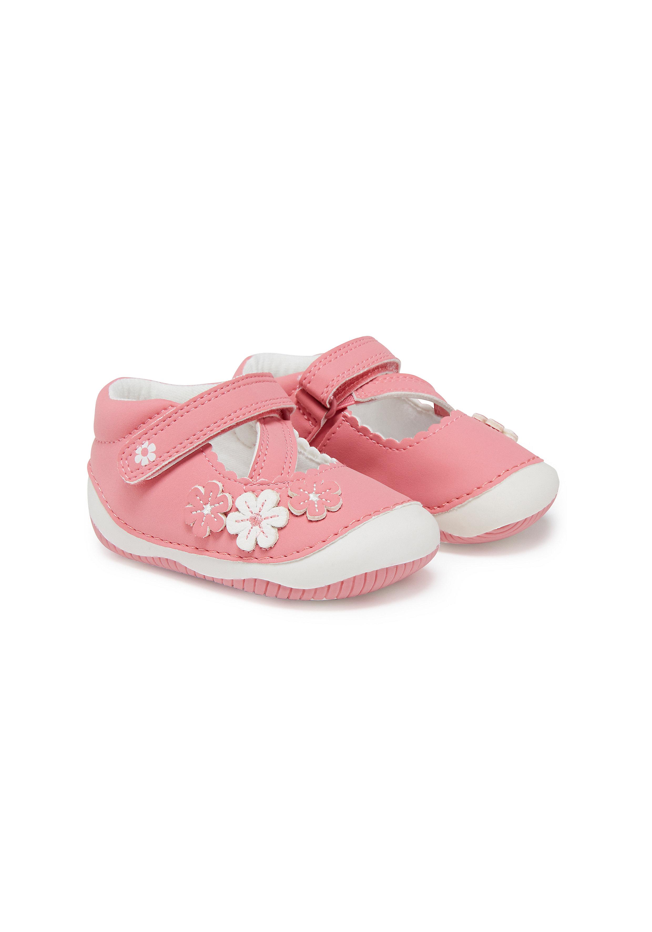 Mothercare | Girls First Walker Shoes Flower Detail - Pink