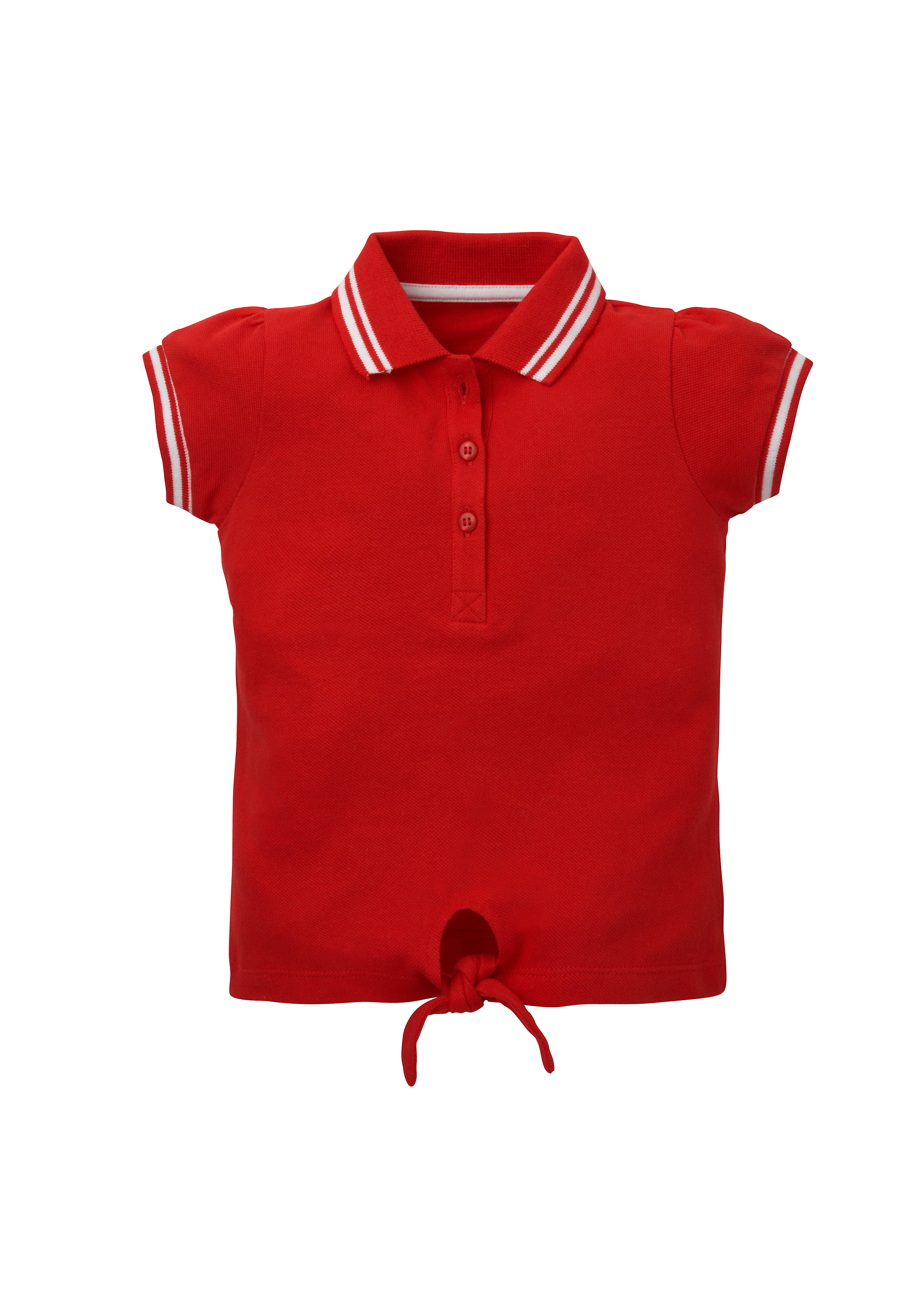 Mothercare   Girls Half Sleeves Polo T-Shirt Tie Waist - Red