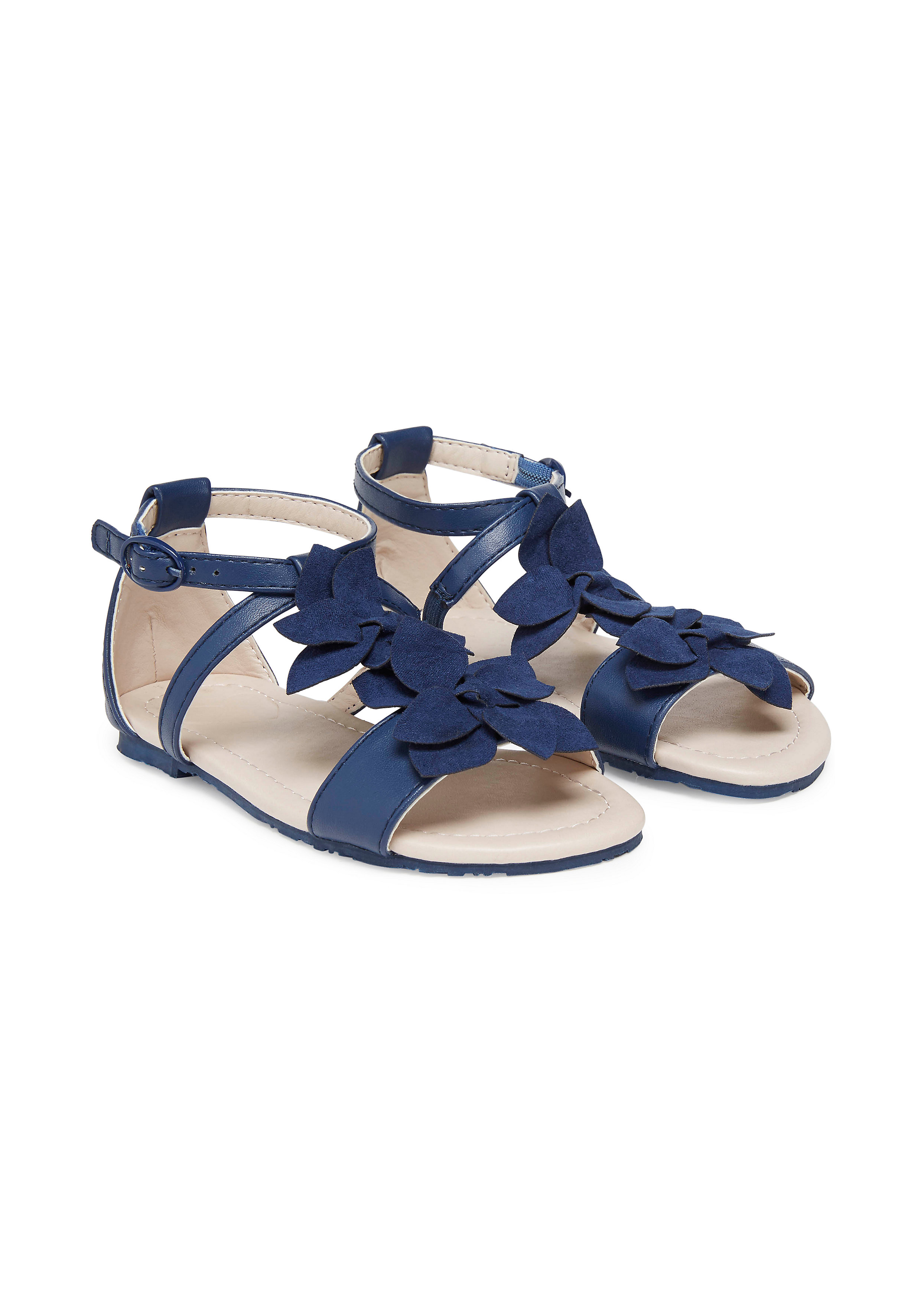 Mothercare | Girls Navy Corsage Sandals