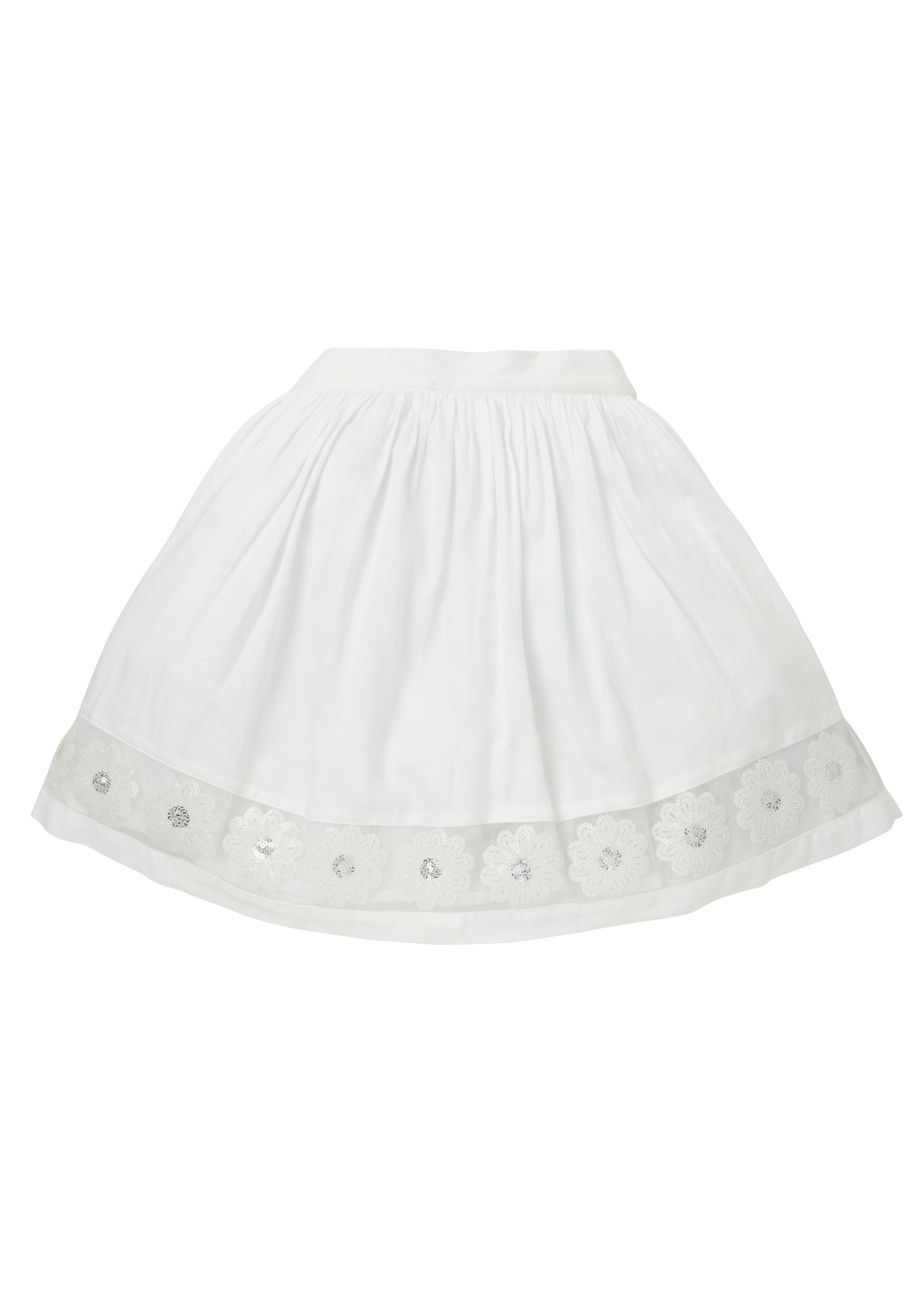 Mothercare | Girls Sequin Skirt - White