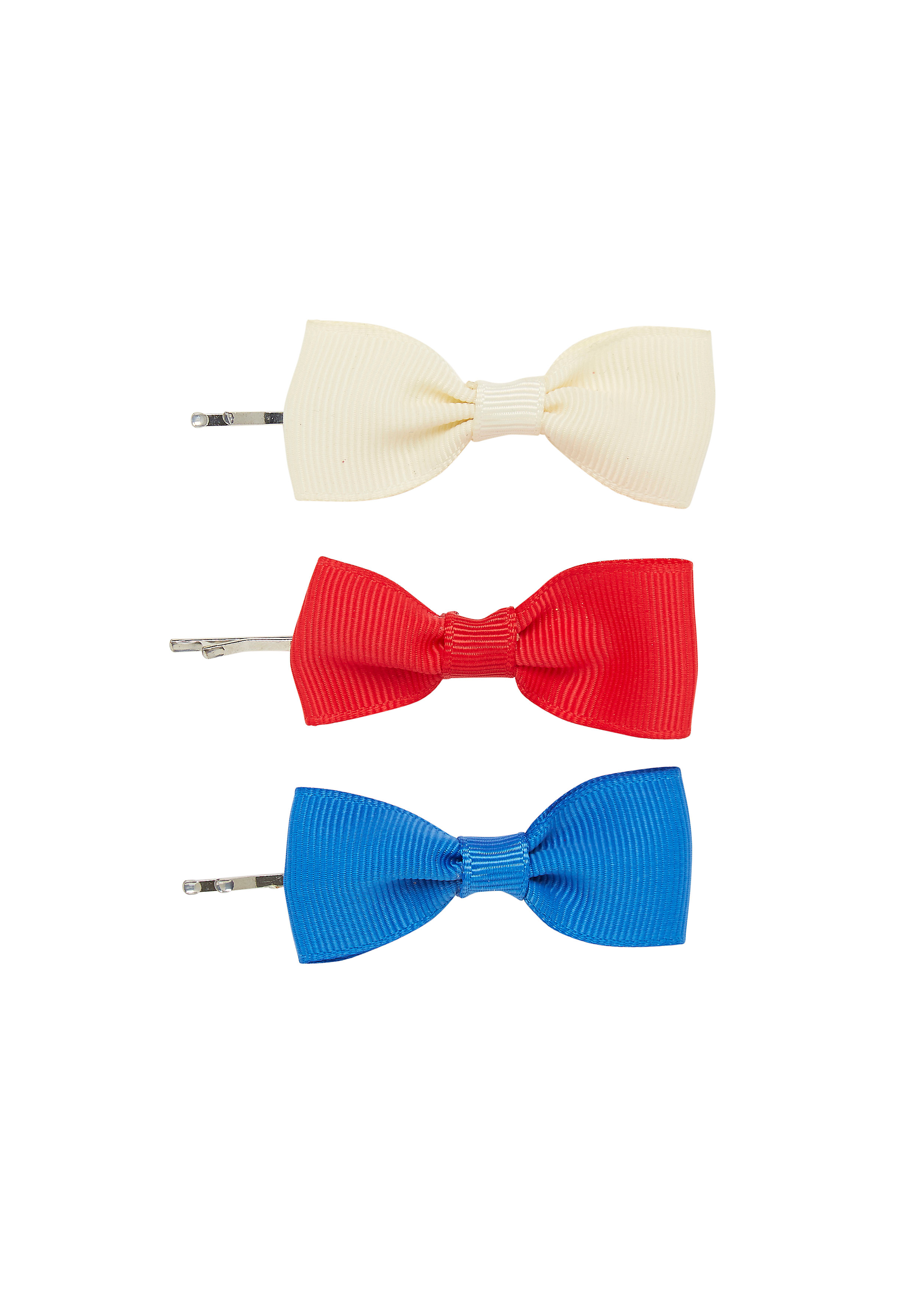 Mothercare | Girls Hair Clips Bow Detail - Pack Of 3 - Multicolor