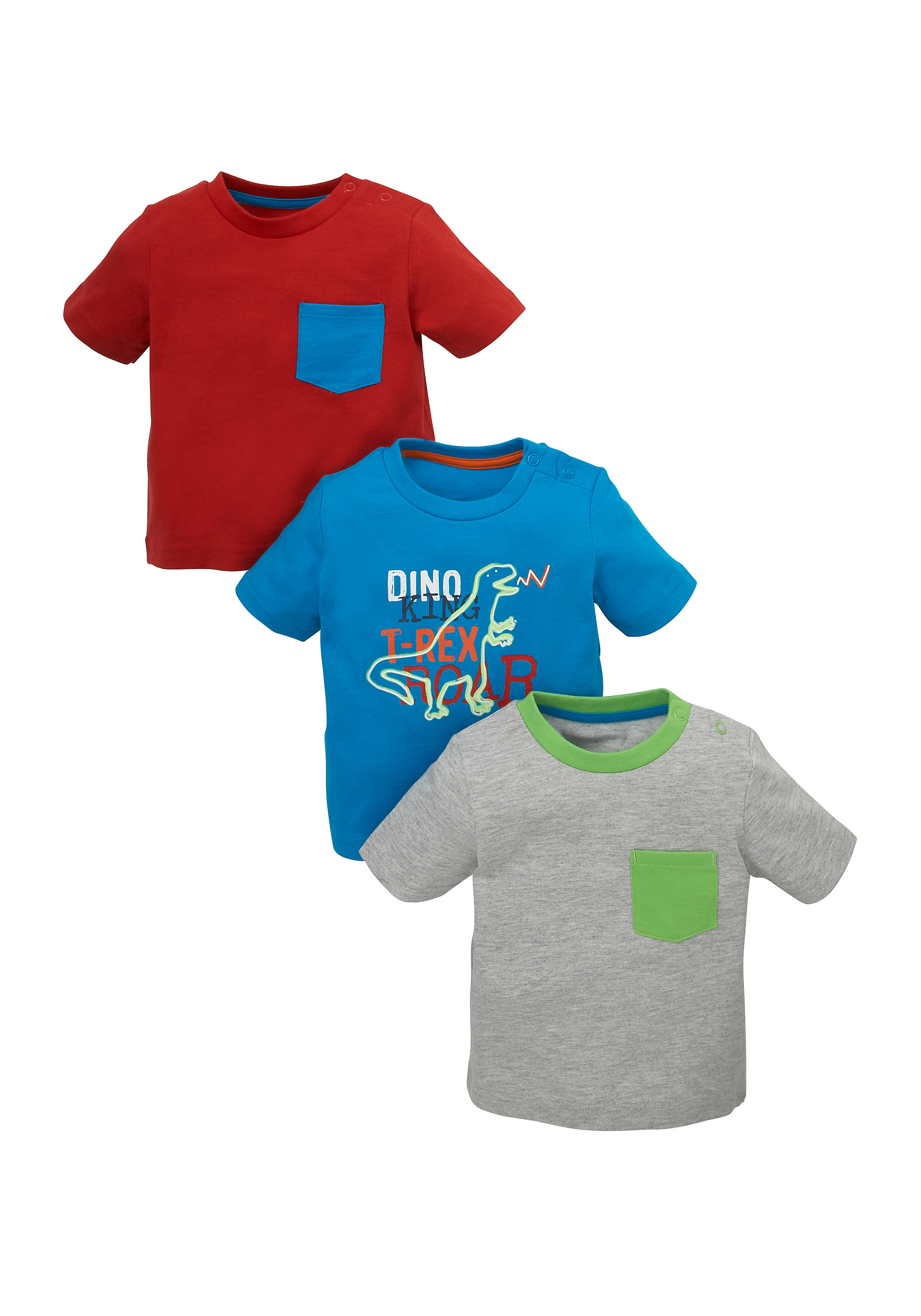 Mothercare   Boys T-Shirts - Pack Of 3