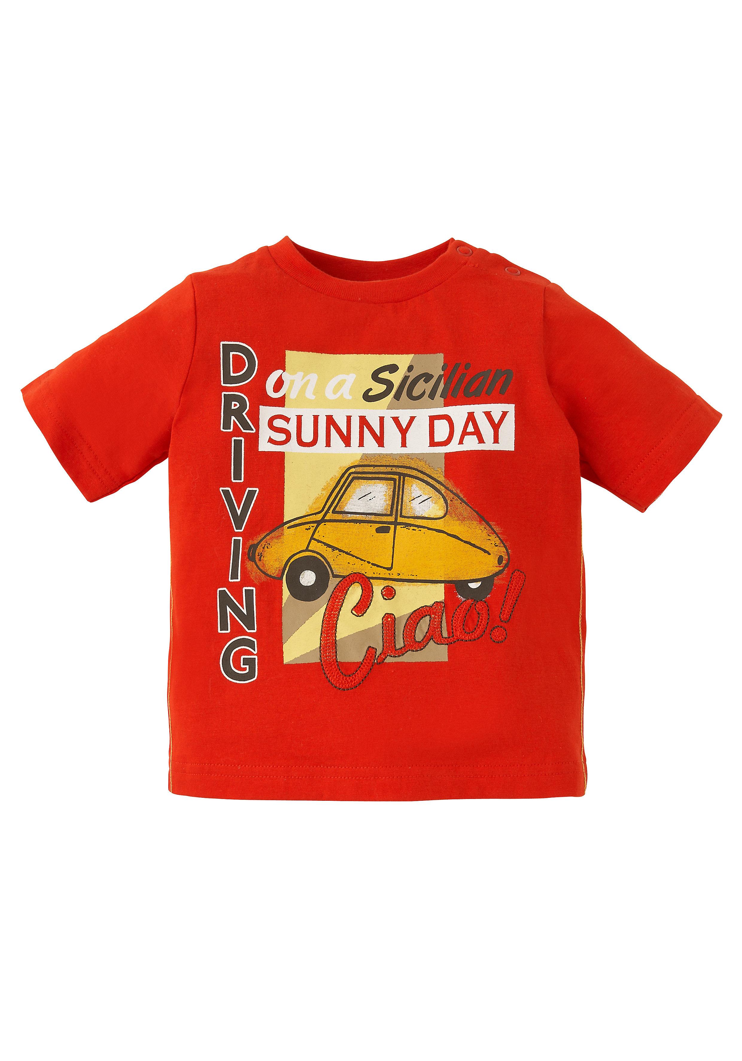 Mothercare | Boys Half Sleeves Text Print T-Shirt - Orange