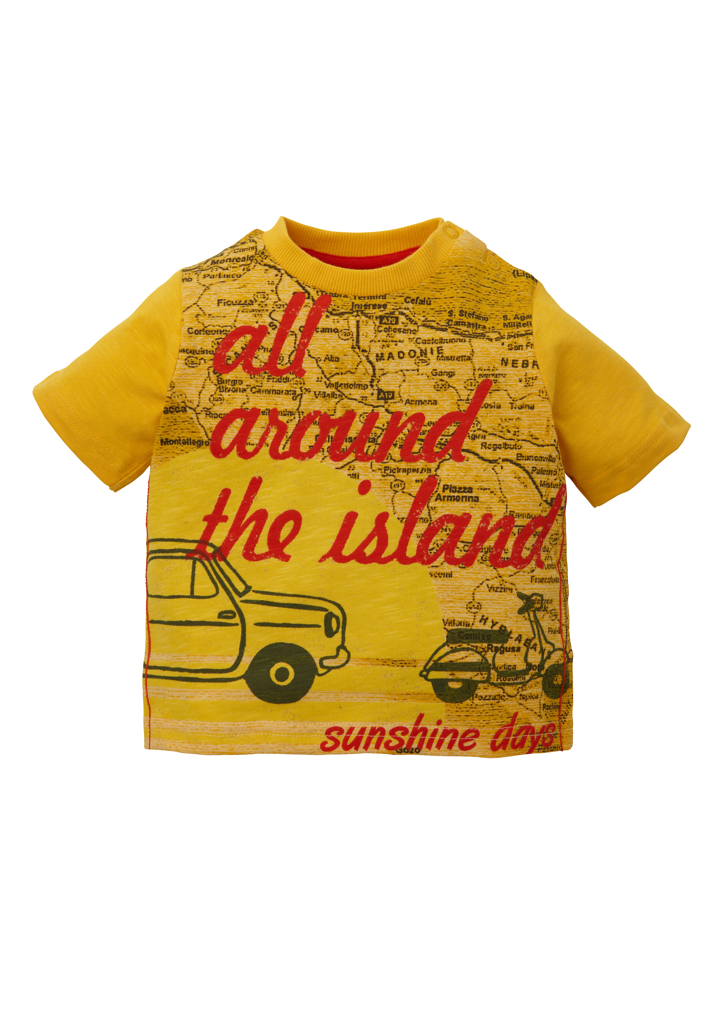 Mothercare | Boys Half Sleeves T-Shirt Text And Car Print - Orange