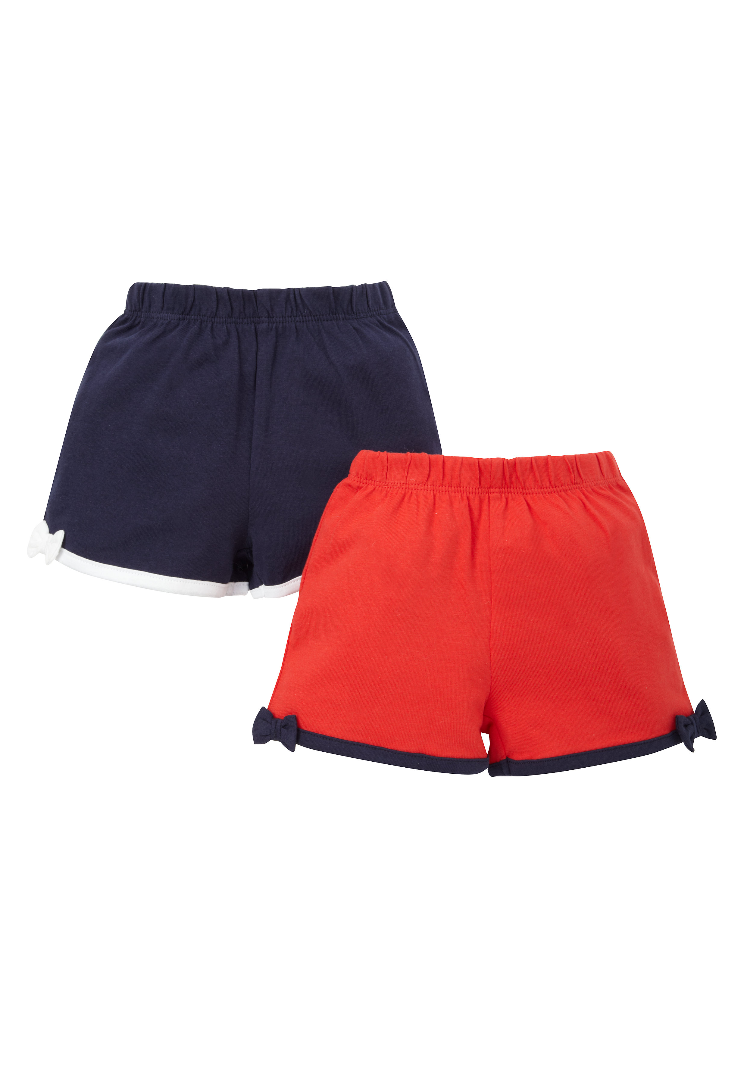 Mothercare   Girls Jersey Shorts - Pack Of 2 - Multicolor