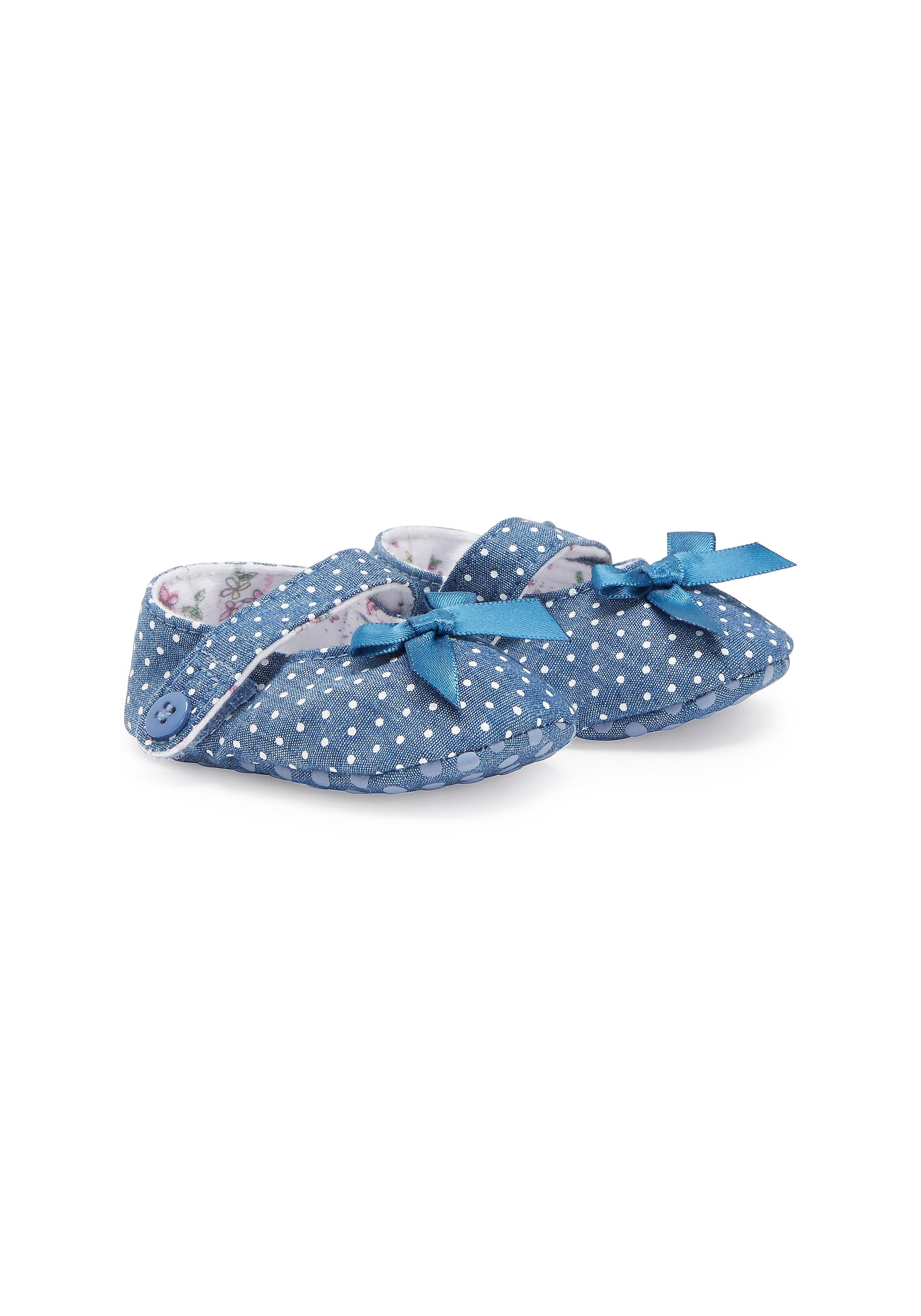 Mothercare | Girls Spotty Booties - Denim