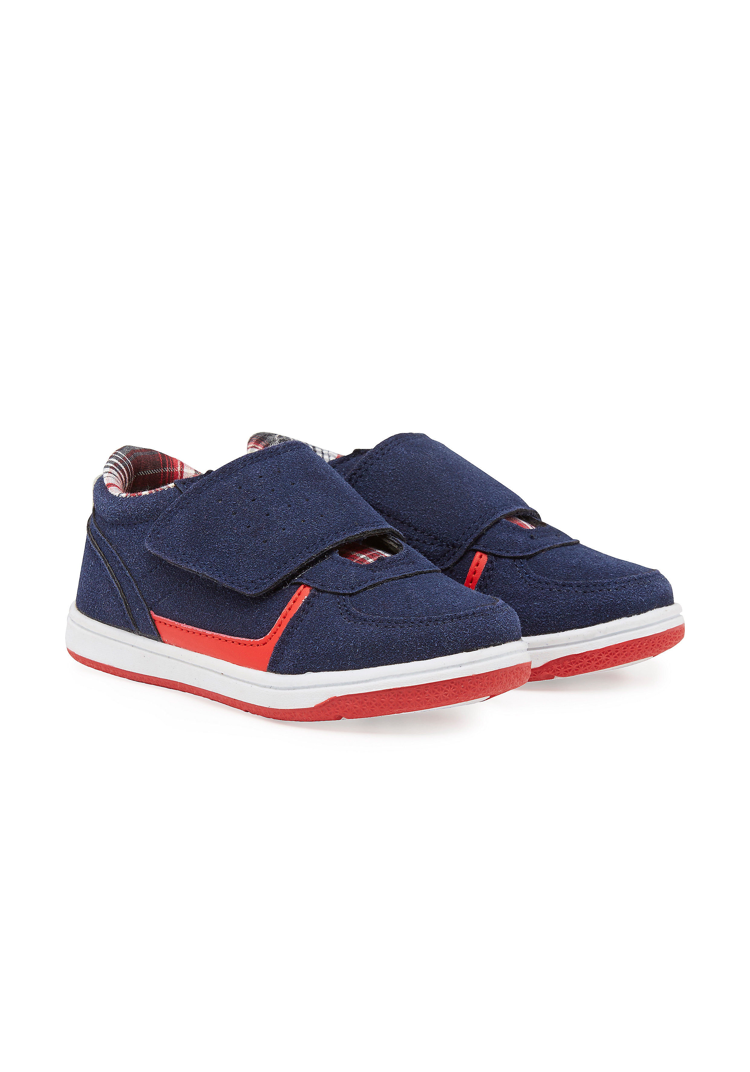 Mothercare | Boys Sports Shoes Checks - Navy