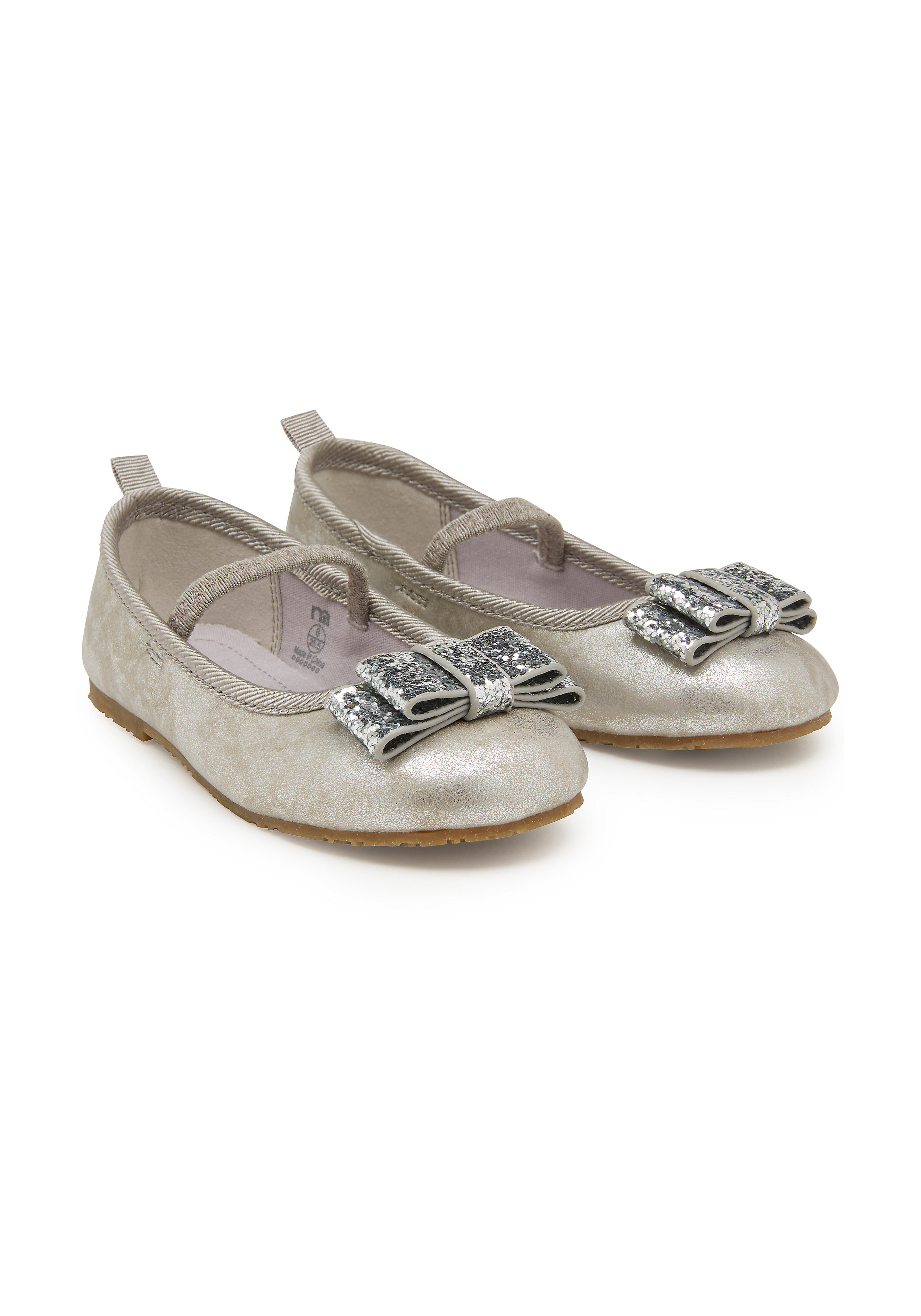 Mothercare | Girls Glitter Shoes - Silver