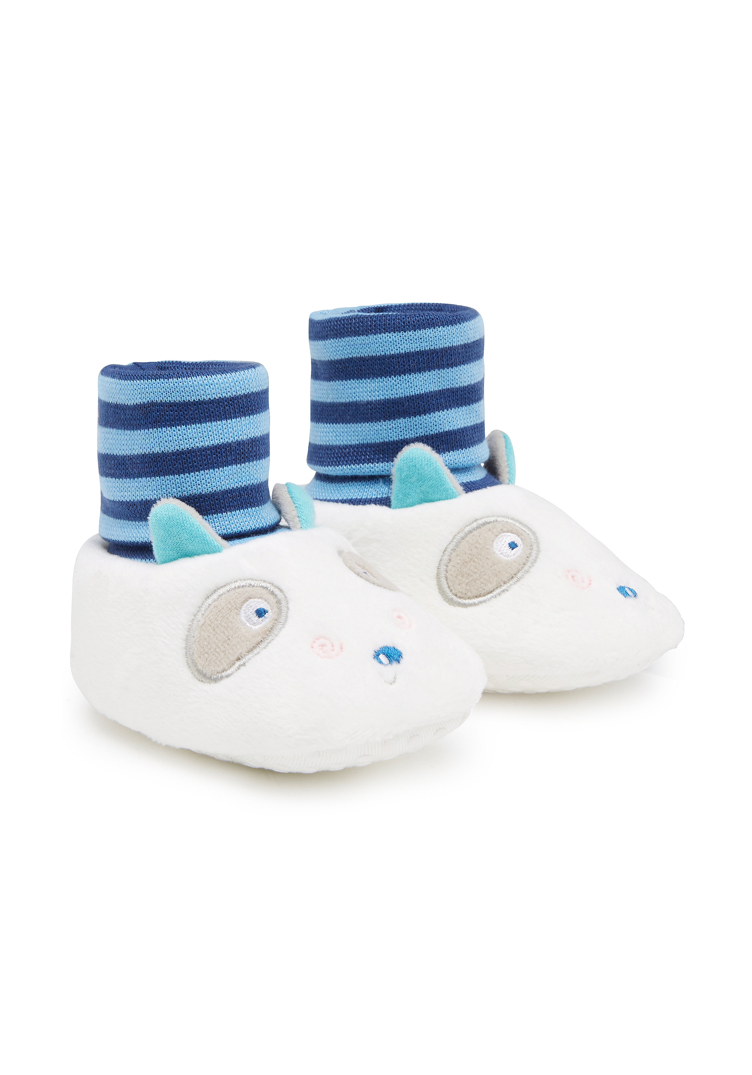 Mothercare | Boys Booties 3D Raccoon Details - White
