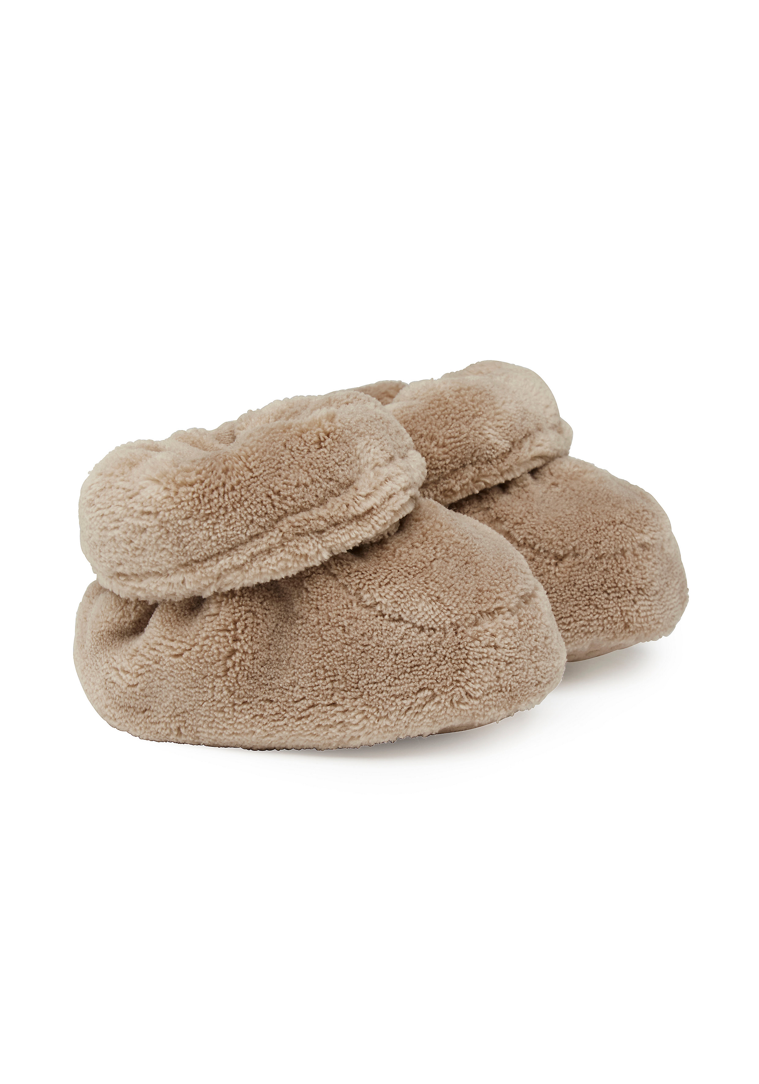 Mothercare | Unisex Fluffy Booties - Brown