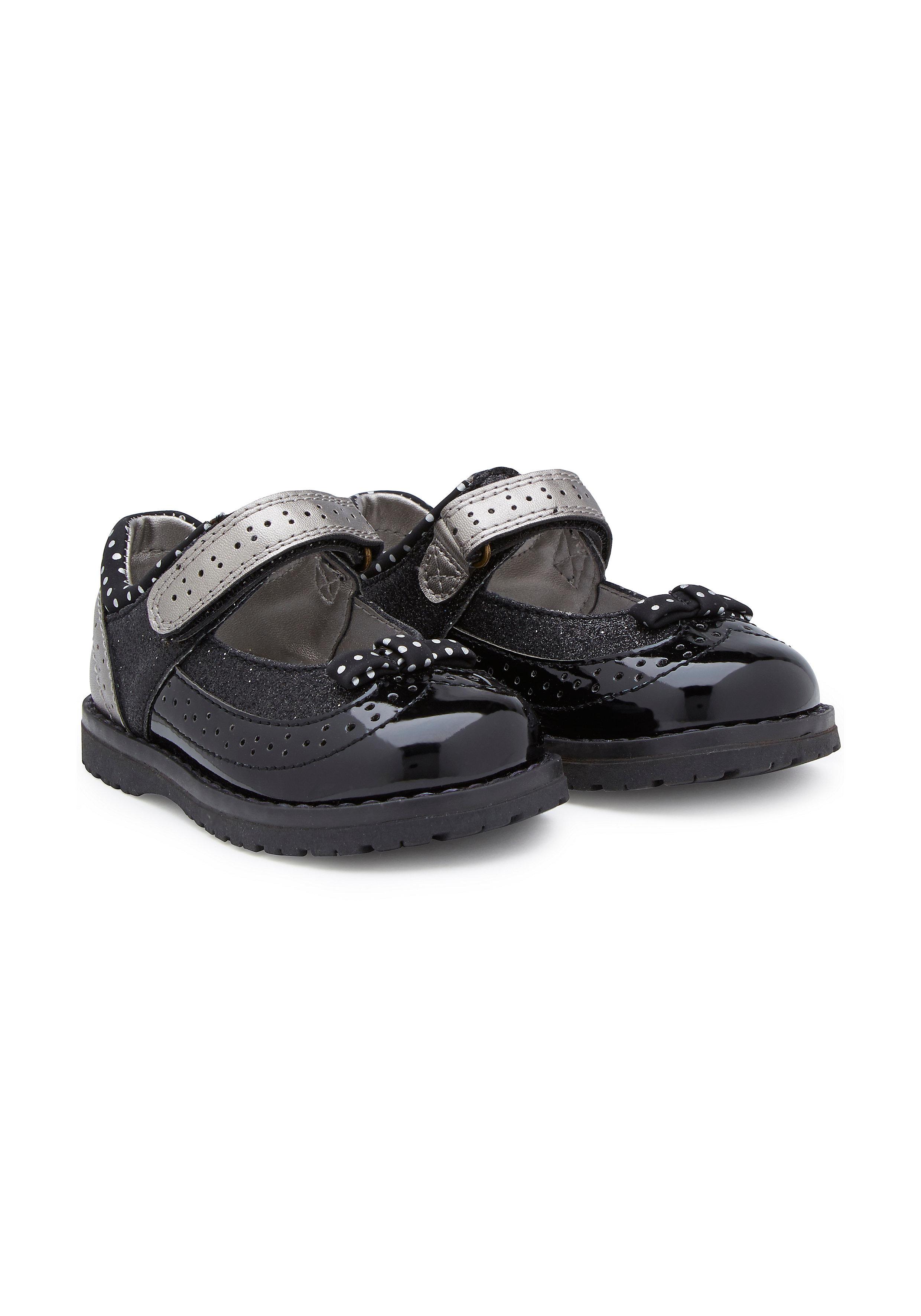 Mothercare | Girls Spot Shoes - Black