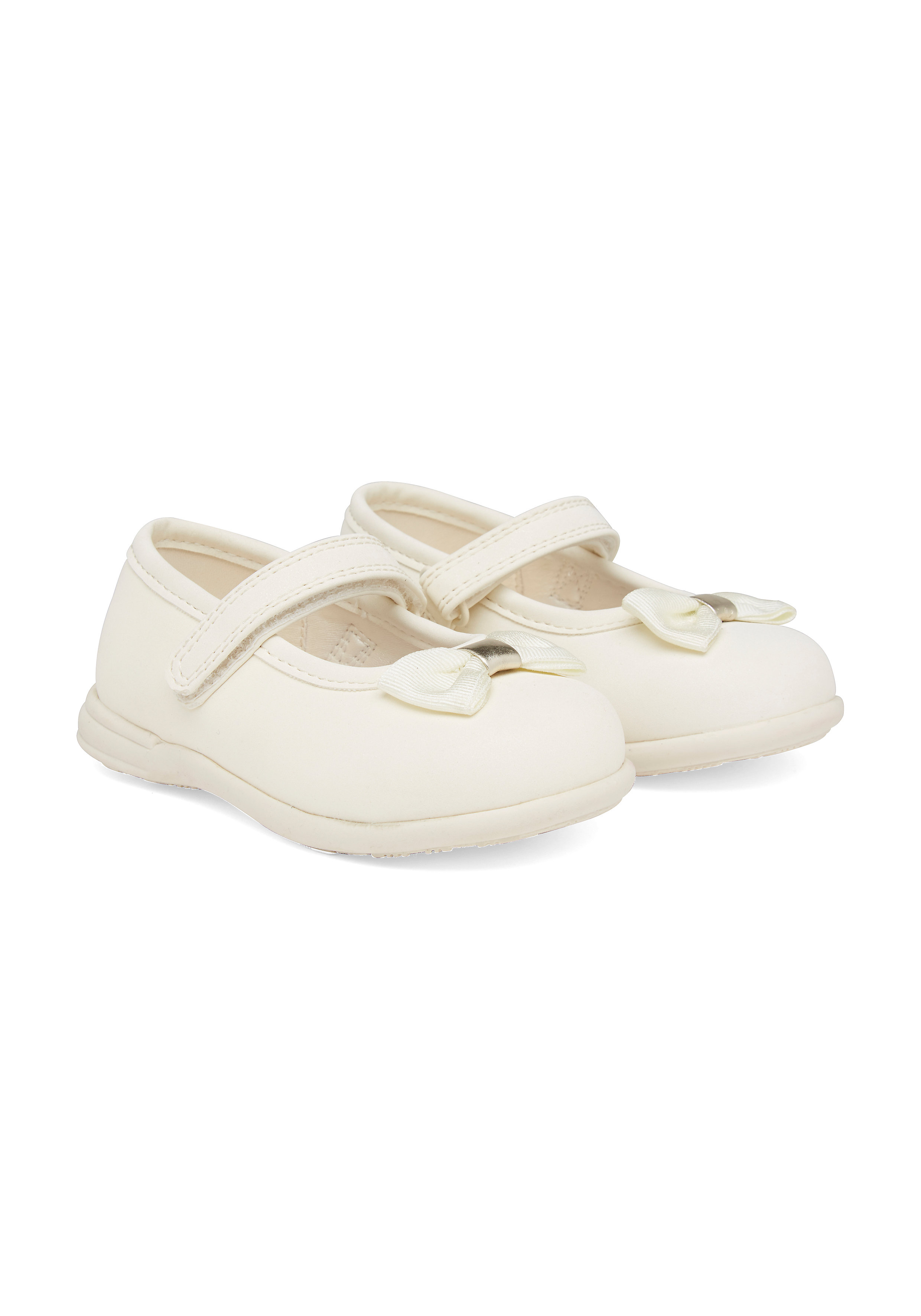 Mothercare   Girls First Walker Shoes Bow Detail - Cream