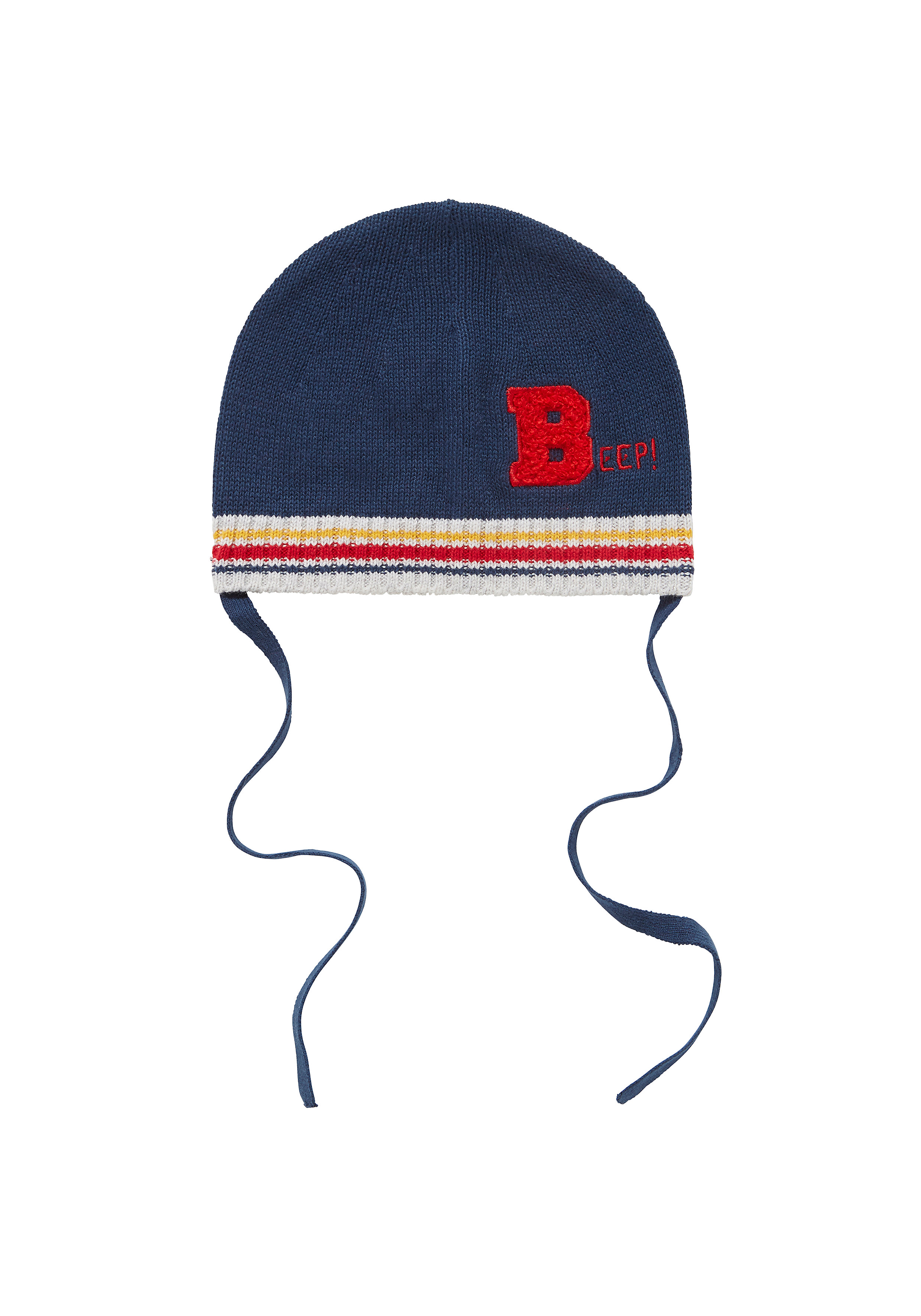 Mothercare   Boys Hat With Ties Embroidered - Navy