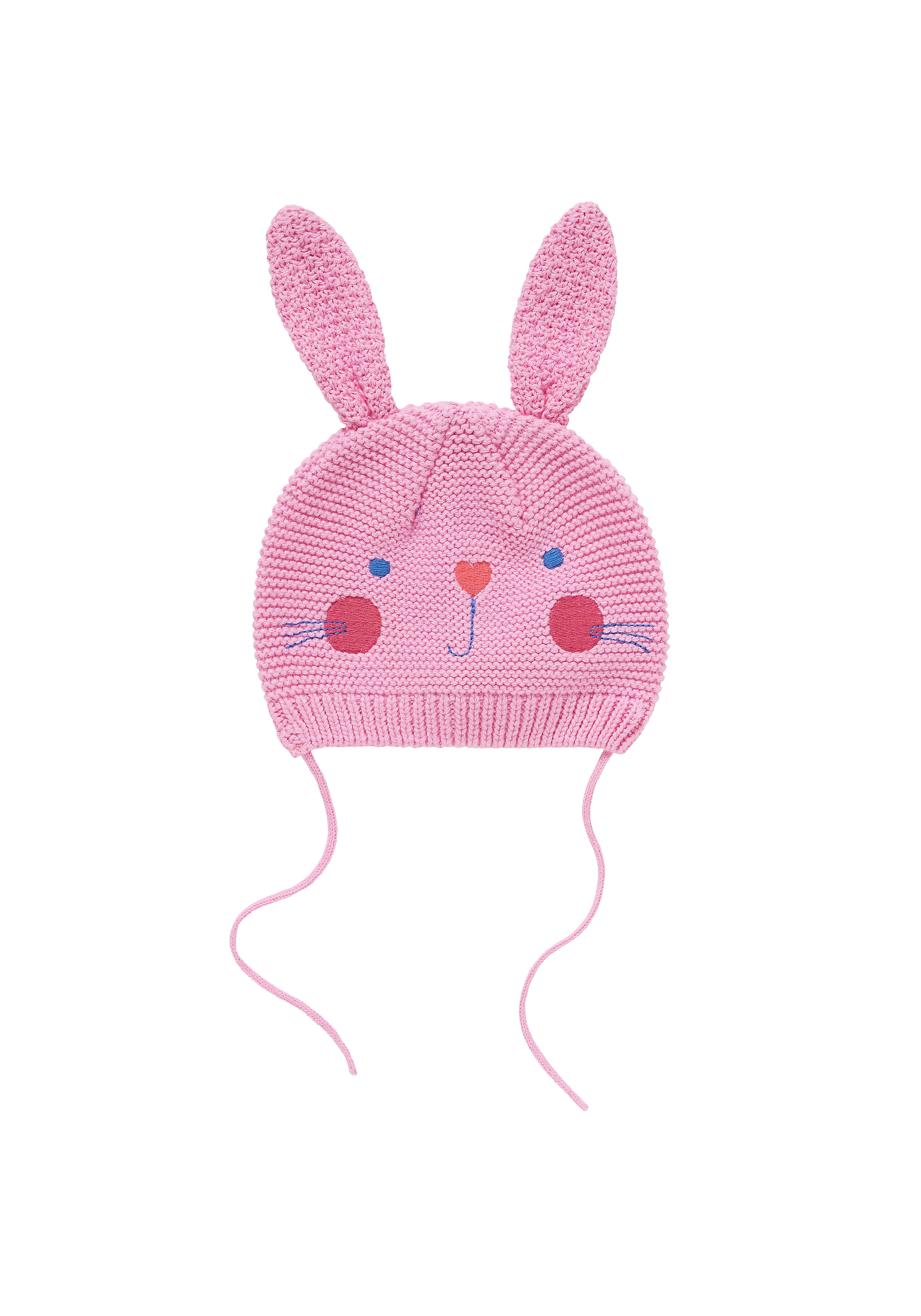 Mothercare | Girls Hat With Ties 3D Ear Detail - Pink