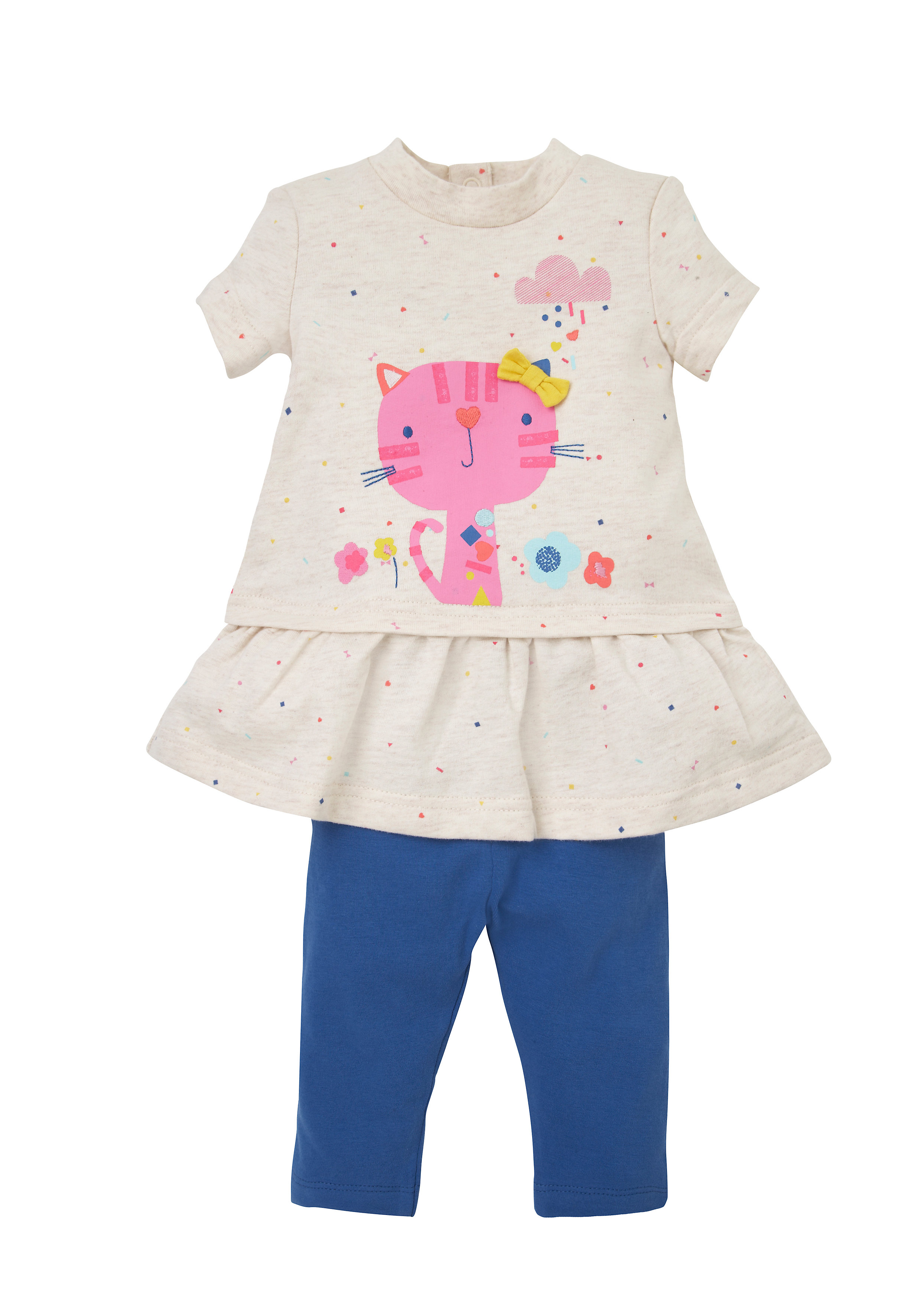 Mothercare | Girls Dress And Leggings Set  - Multicolor