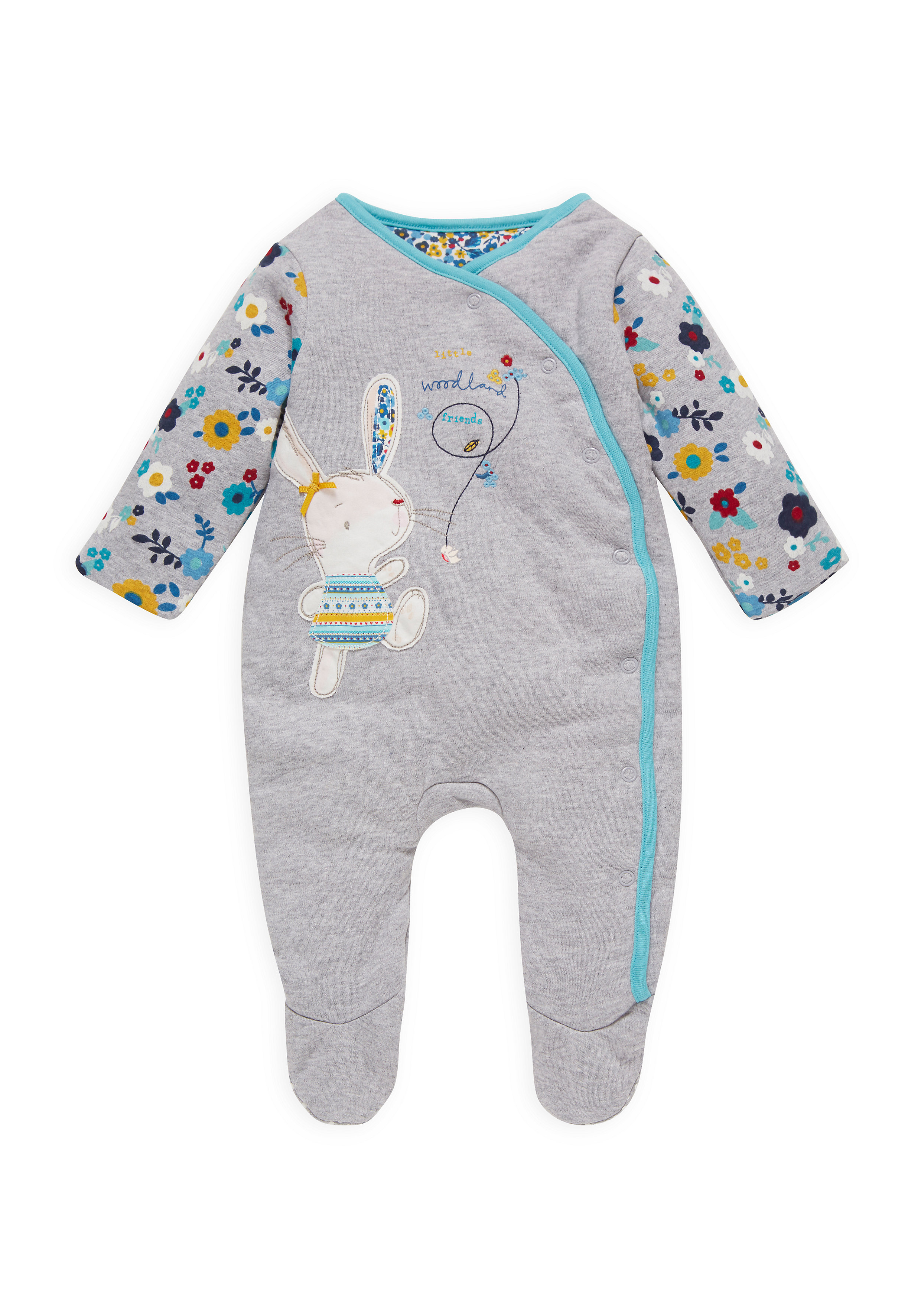 Mothercare | Girls Wadded Romper - Grey