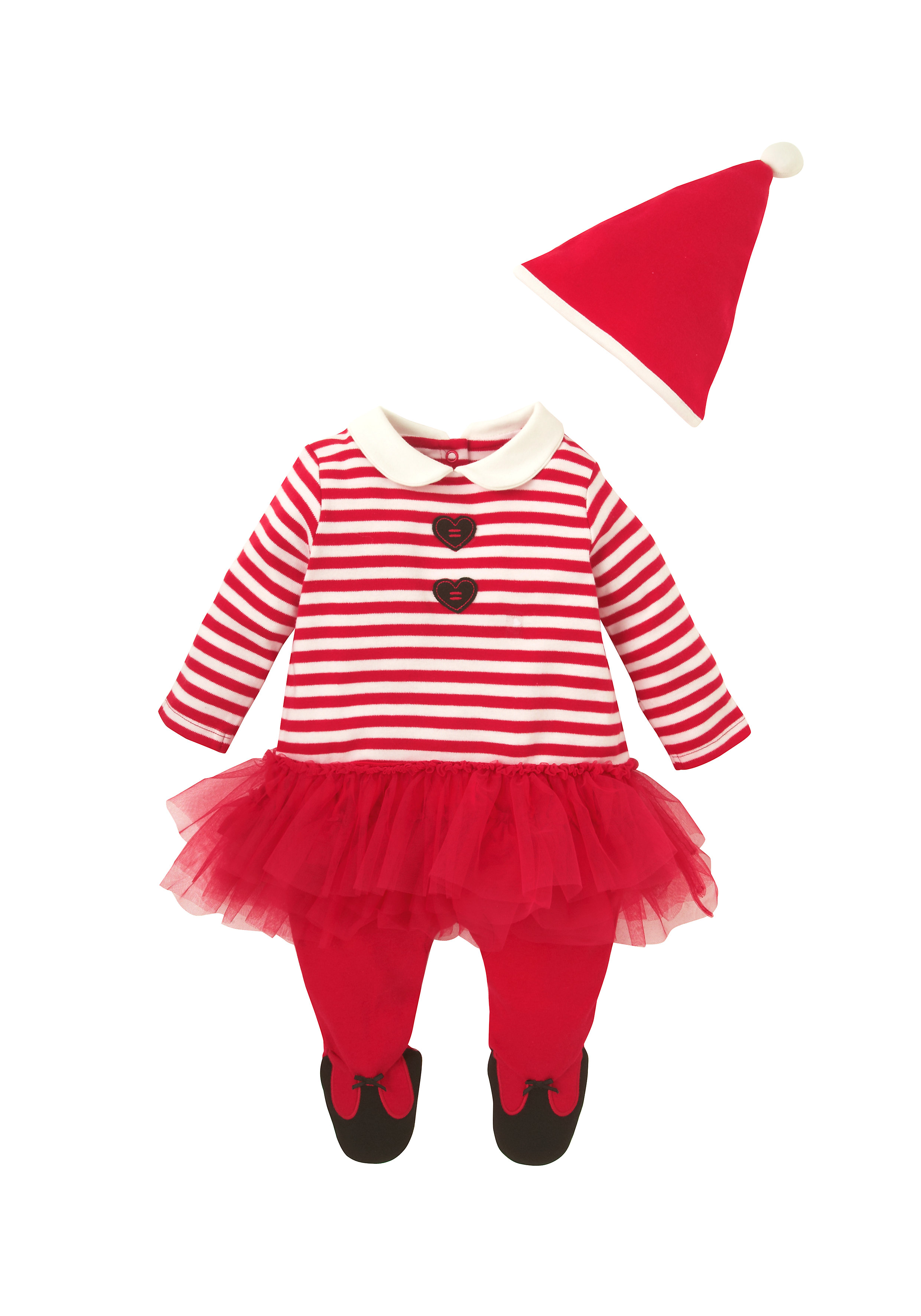 Mothercare   Girls Mrs. Santa Tutu All In One - Red