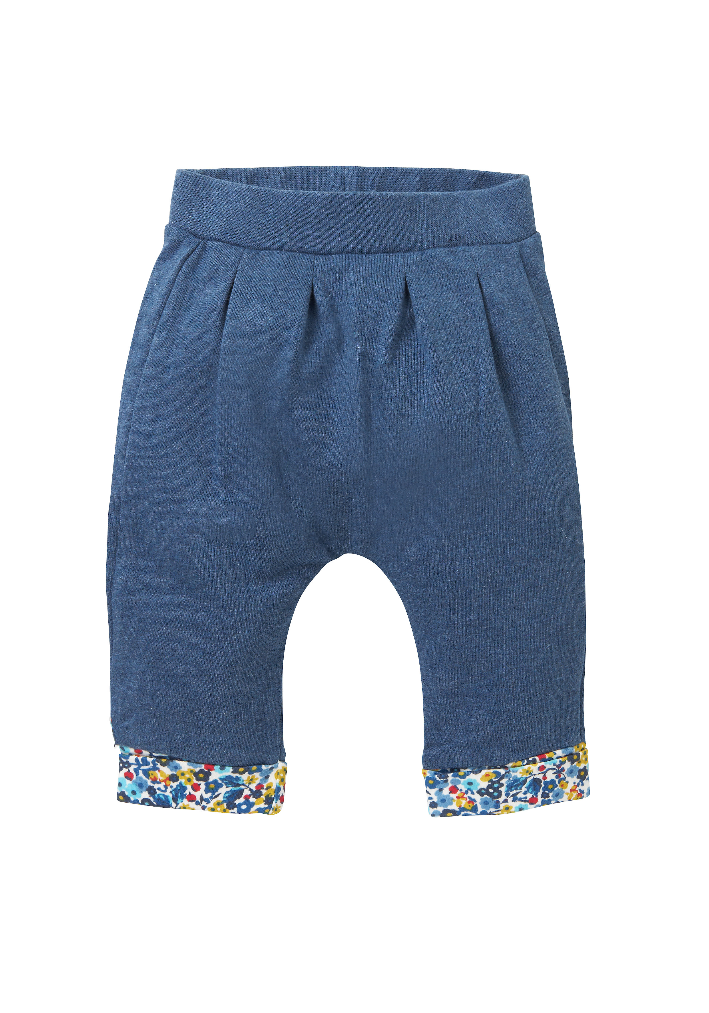 Mothercare   Girls Ditsy Floral Trim Joggers - Navy