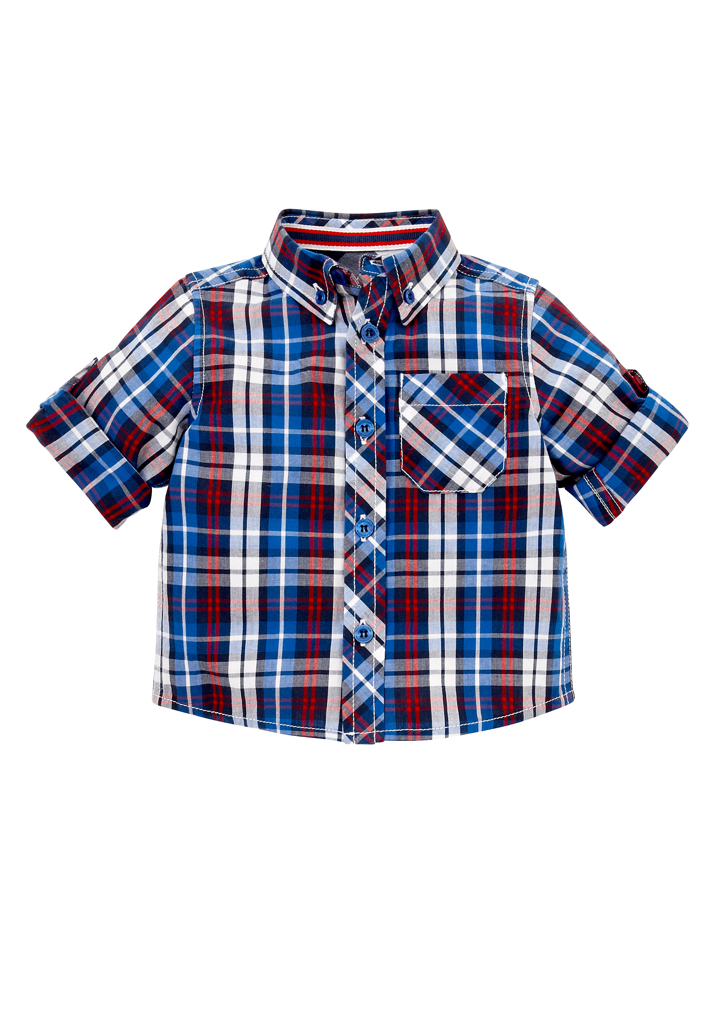Mothercare | Boys Full Sleeves Shirts Checked Roll Neck - Multicolor