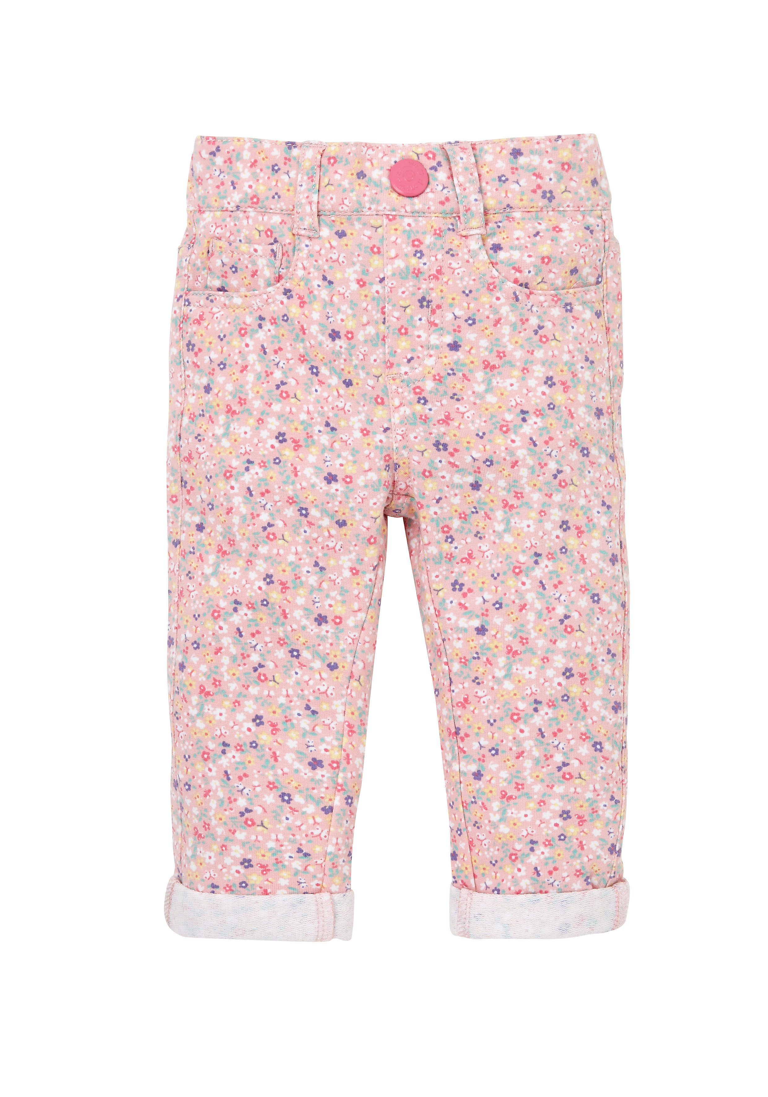 Mothercare | Girls Trousers Floral Print - Pink